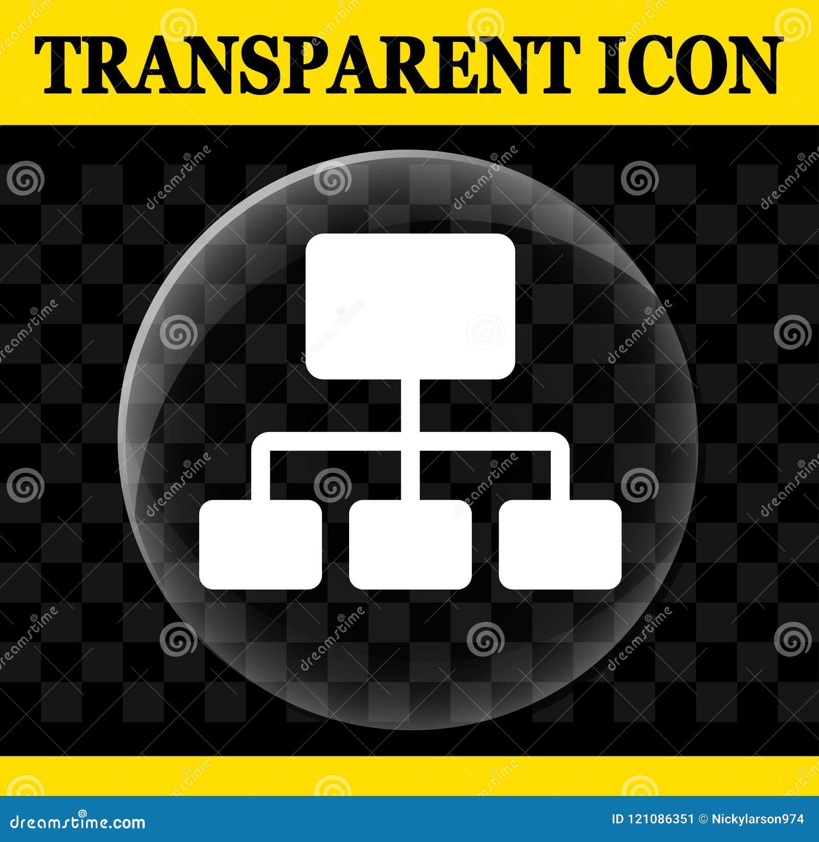 Organization vector circle transparent icon