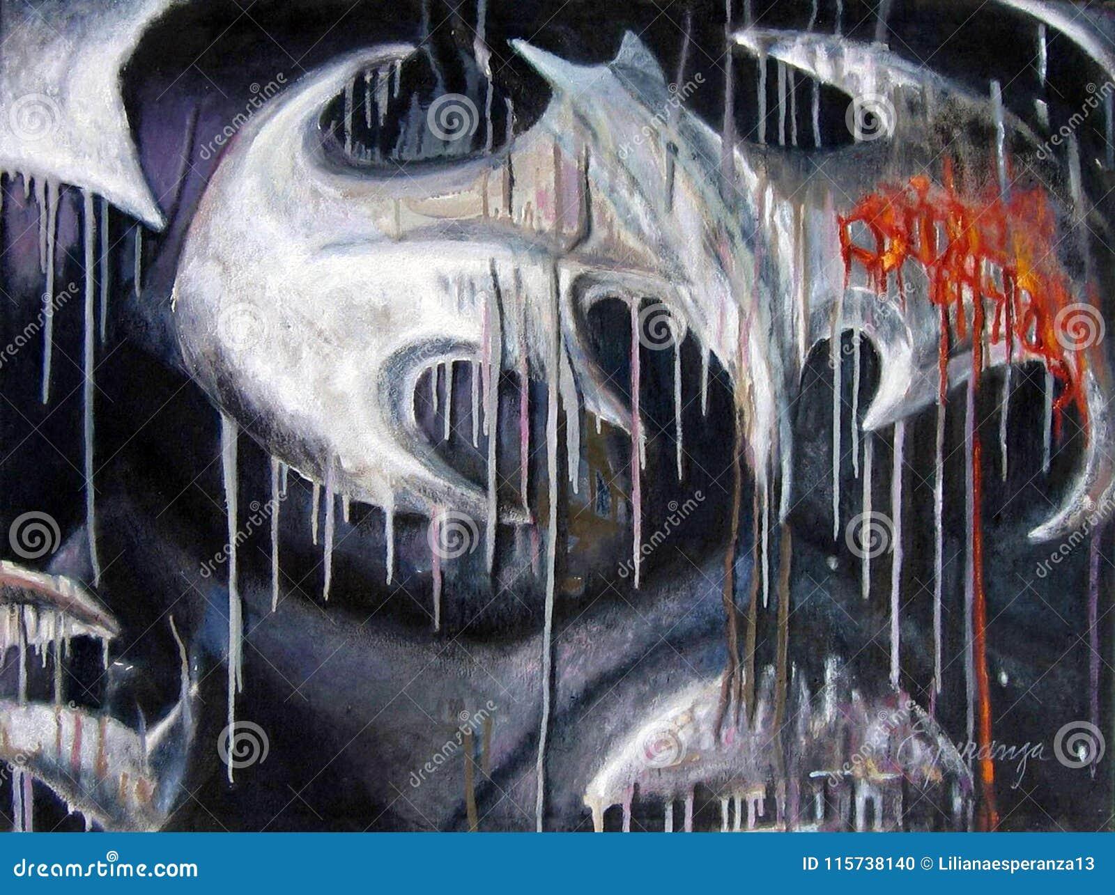 Illustration originale d abrégé sur peinture oleo