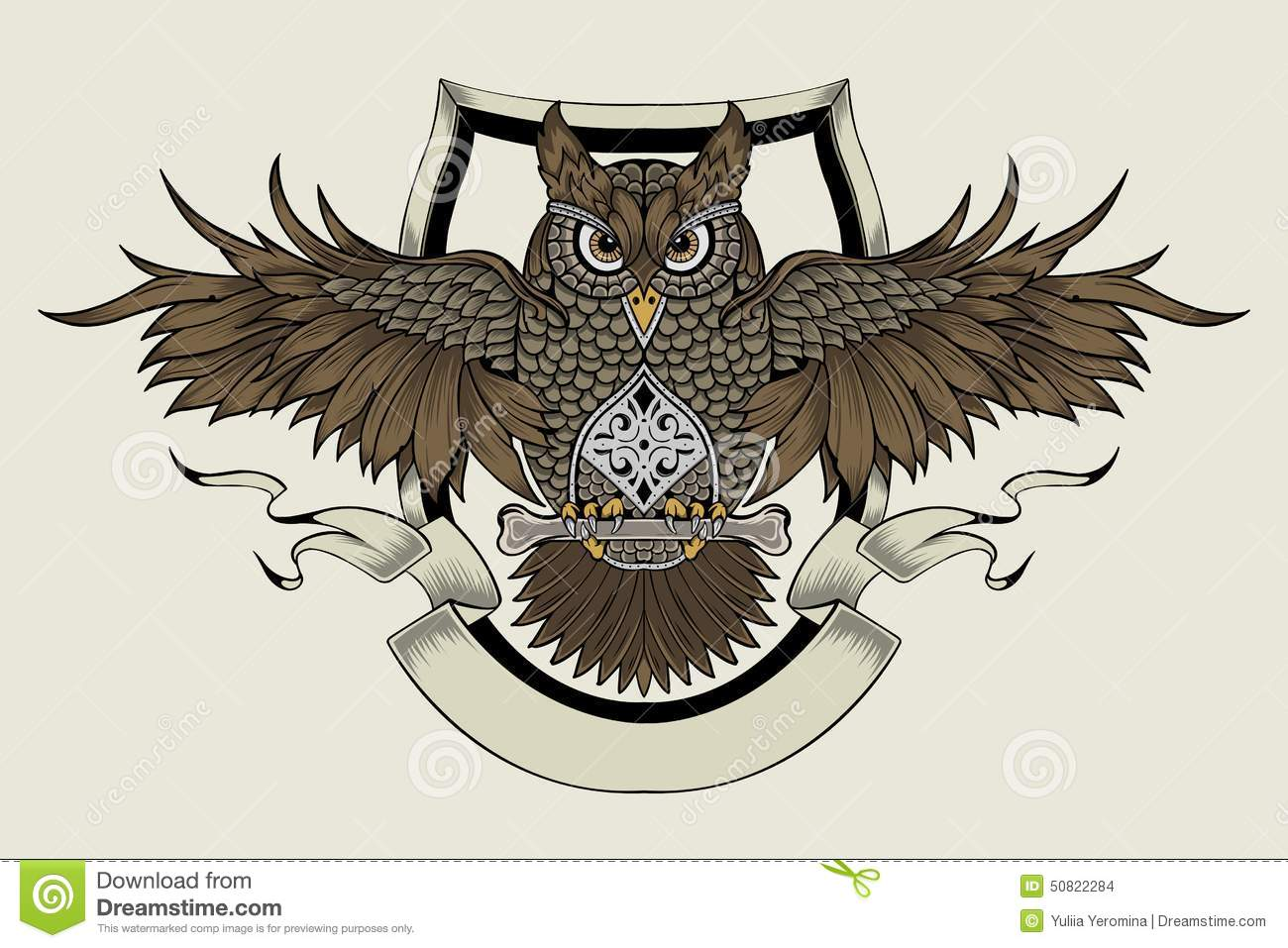 illustration of an owl stock vector image 50822284