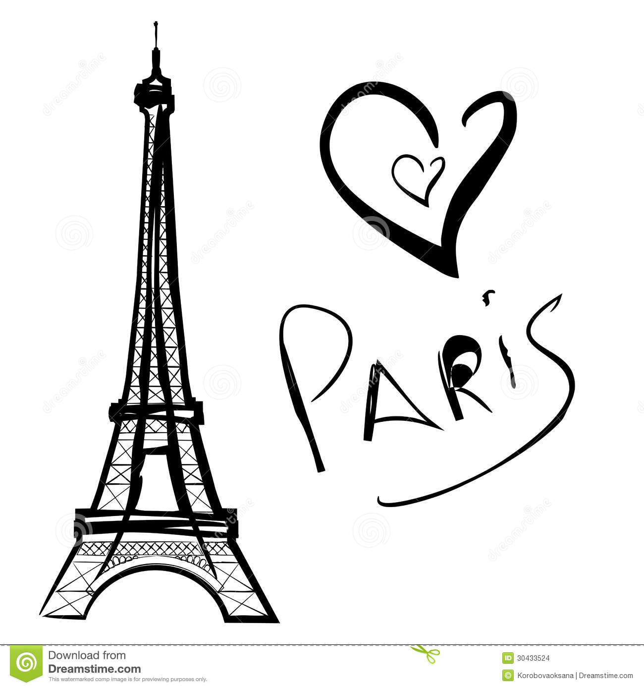illustration of paris the eiffel tower stock images image 30433524