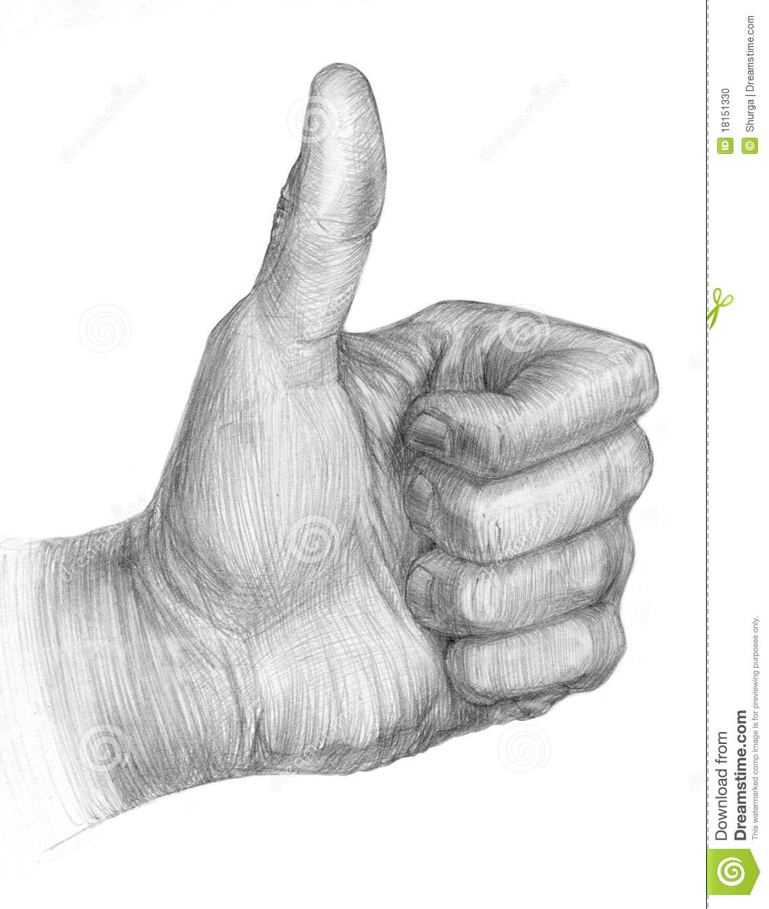 Illustration Of A Pencil Thumb Up Stock Photo Image