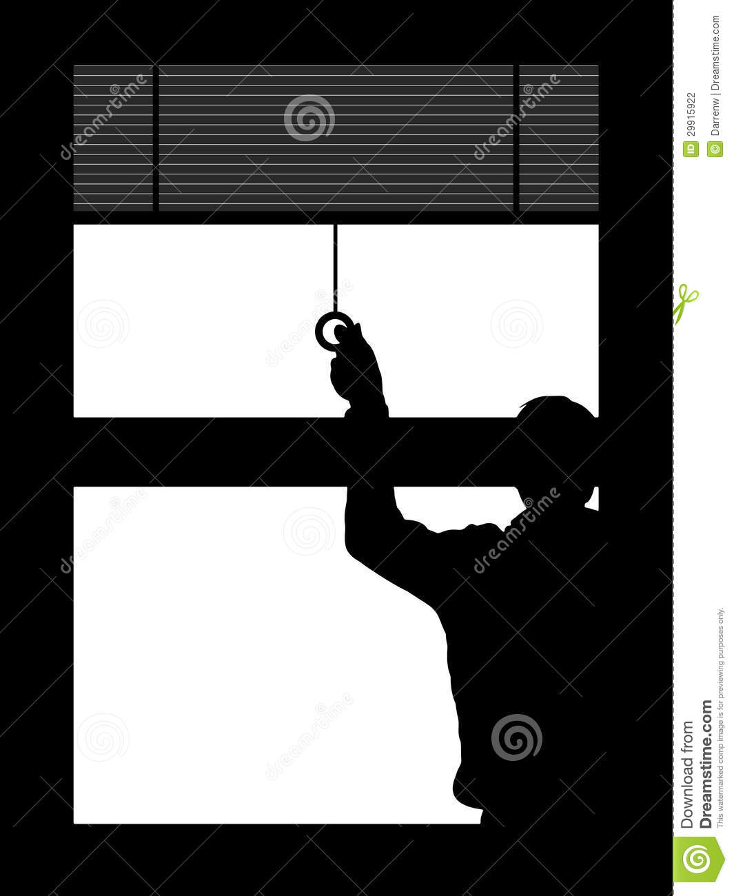 Pulling Down The Blinds Stock Photography - Image: 29915922