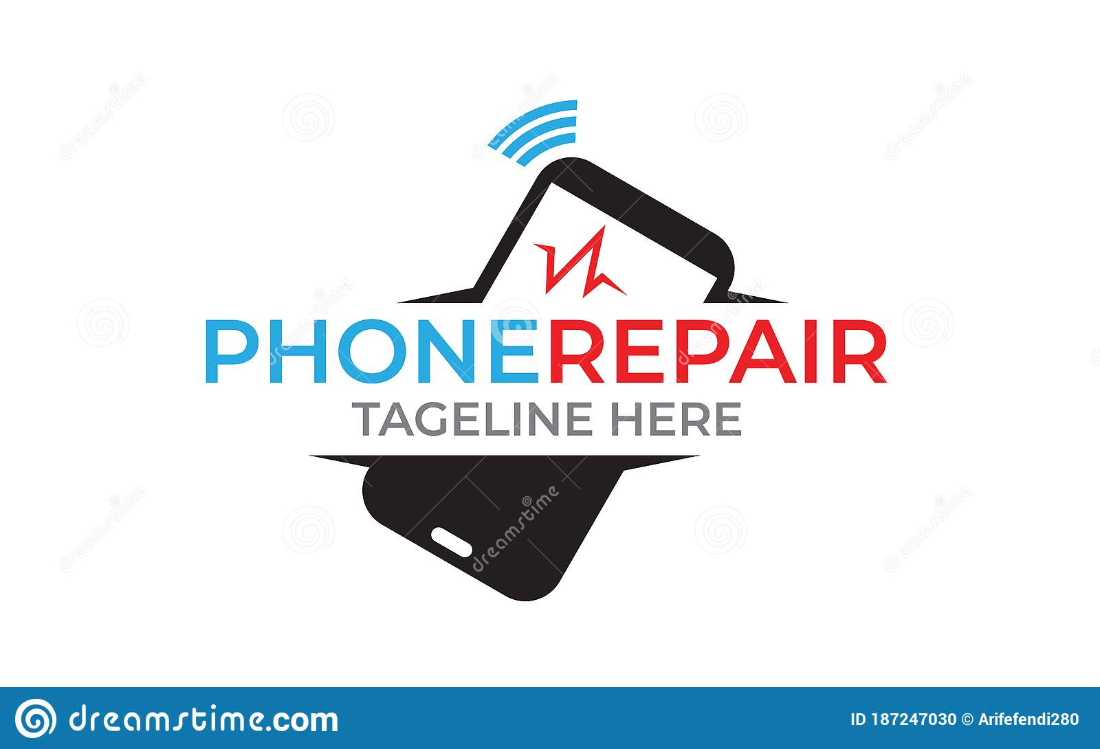 Illustration Of Phone Repair Logo Can Use For Mobile Shop Stock Vector Illustration Of Cell Geek 187247030