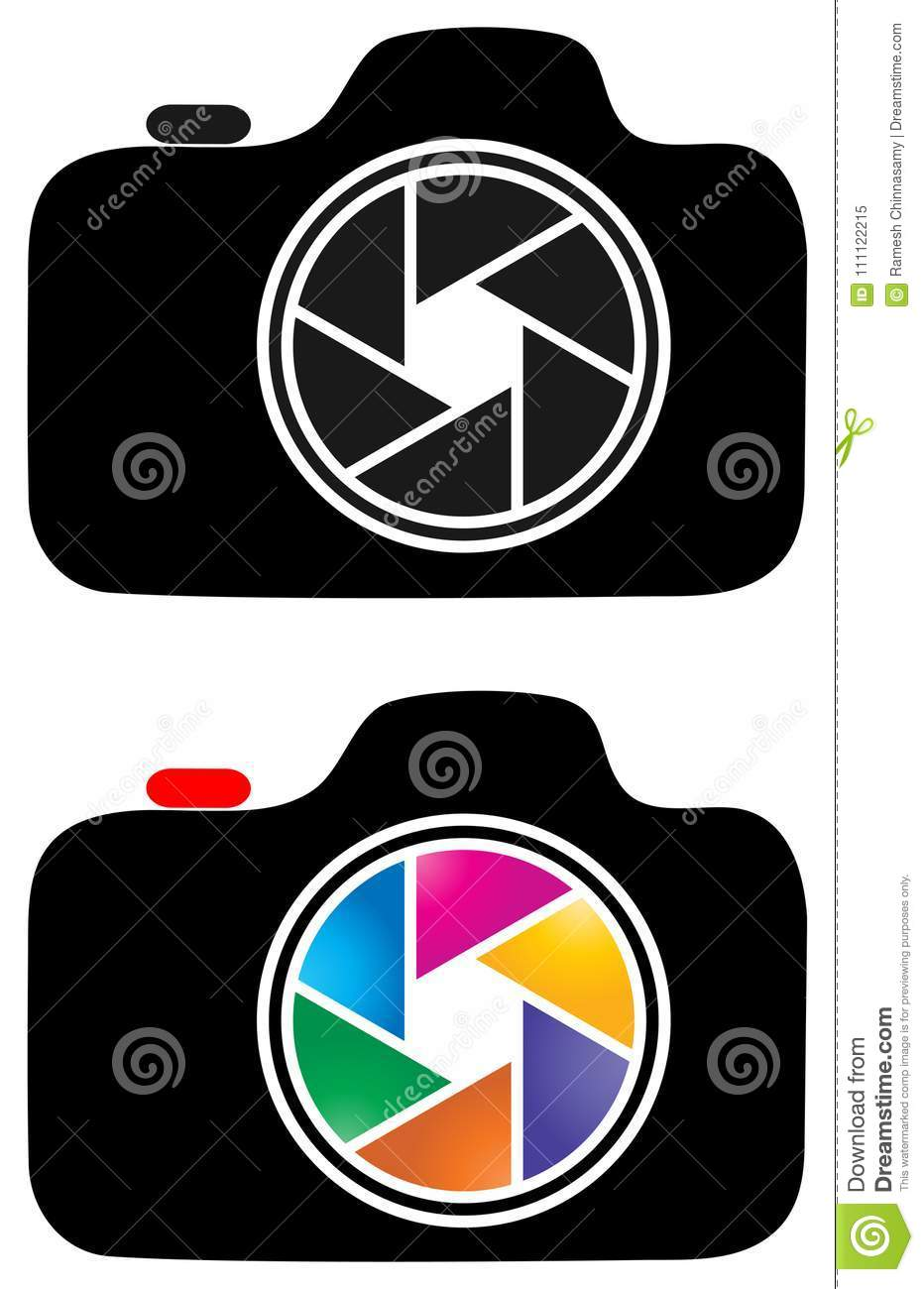 Photography Camera Clip Art Logo Stock Illustration Illustration Of Attached Button 111122215