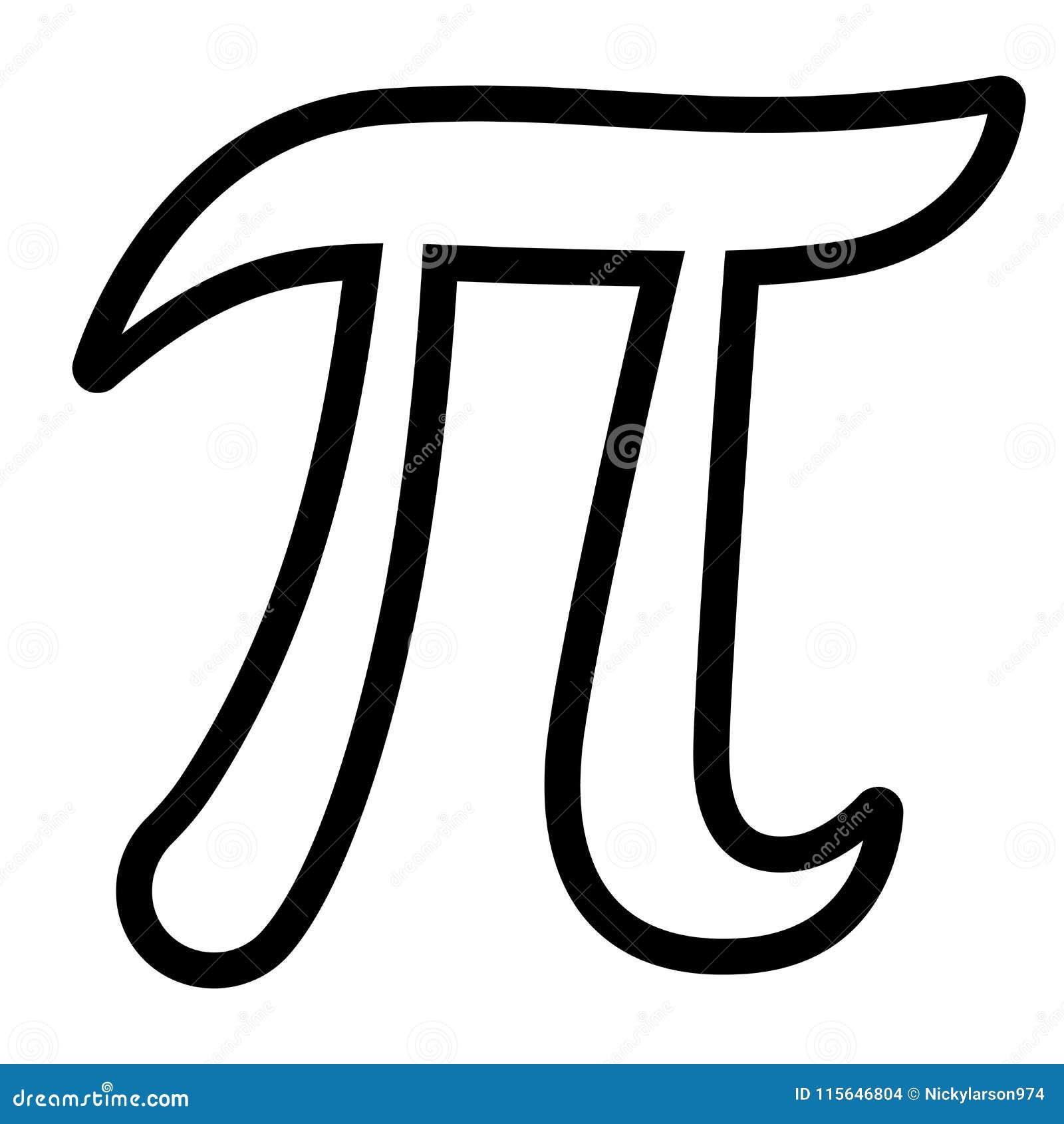 Pi Symbol On White Background Stock Vector Illustration Of Greek