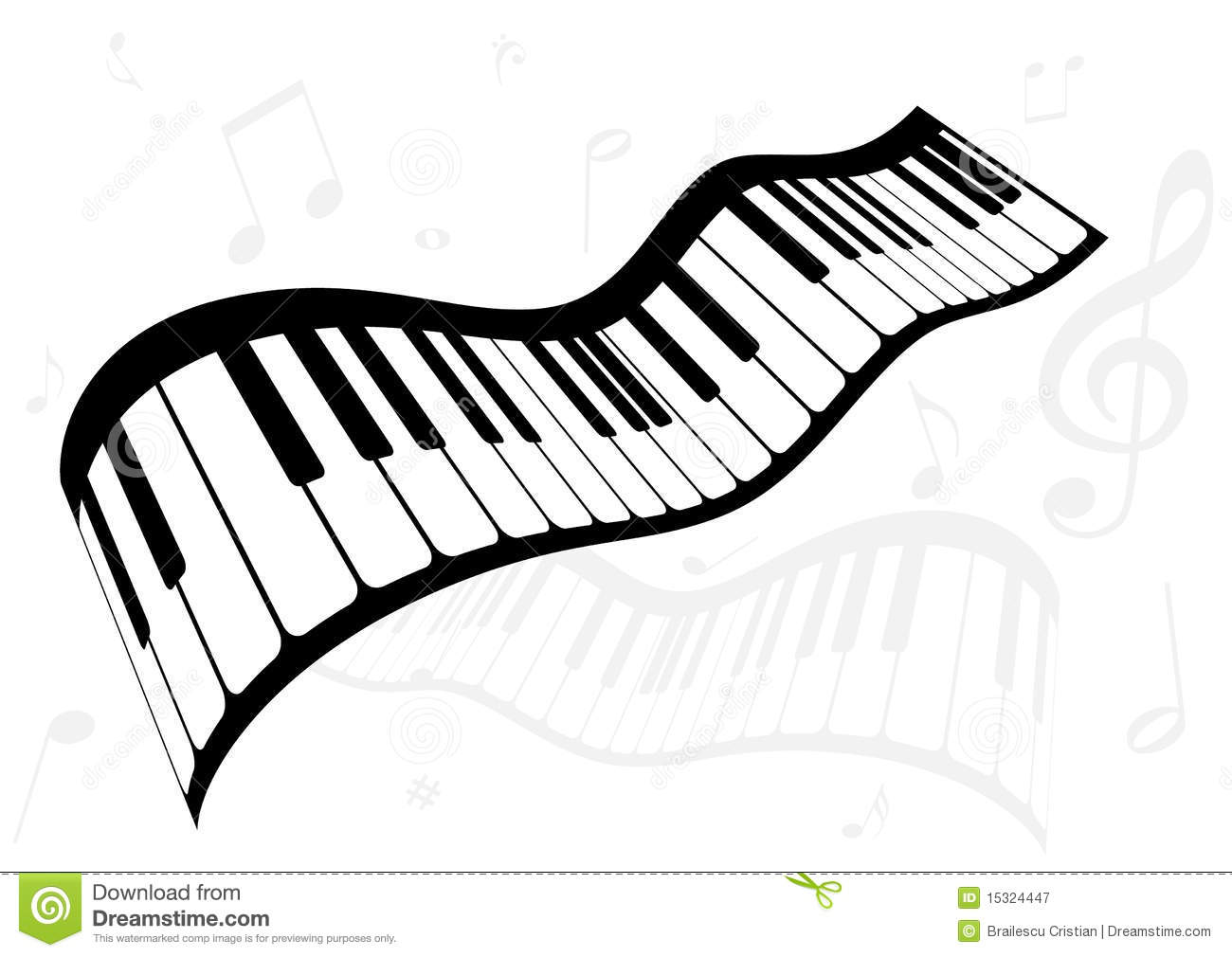Gut bekannt Illustration Of A Piano And Music Notes Stock Vector - Image: 15324447 LE98