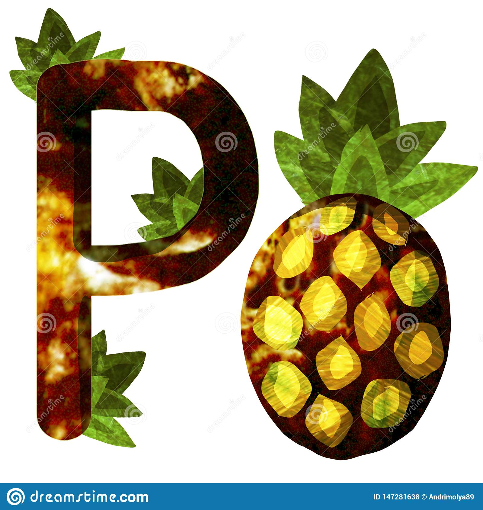Illustration with pineapple