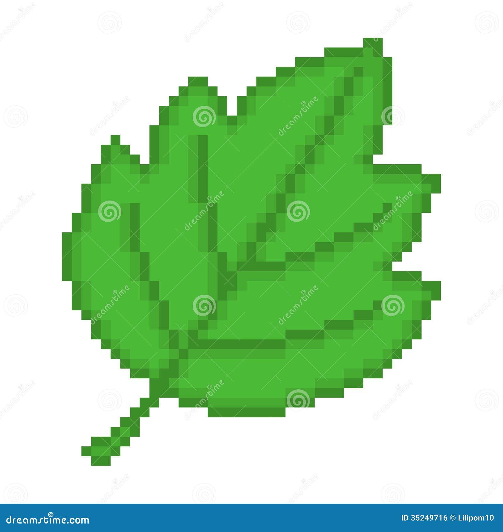 Illustration Pixel Leaf Illustration 35249716 Megapixl