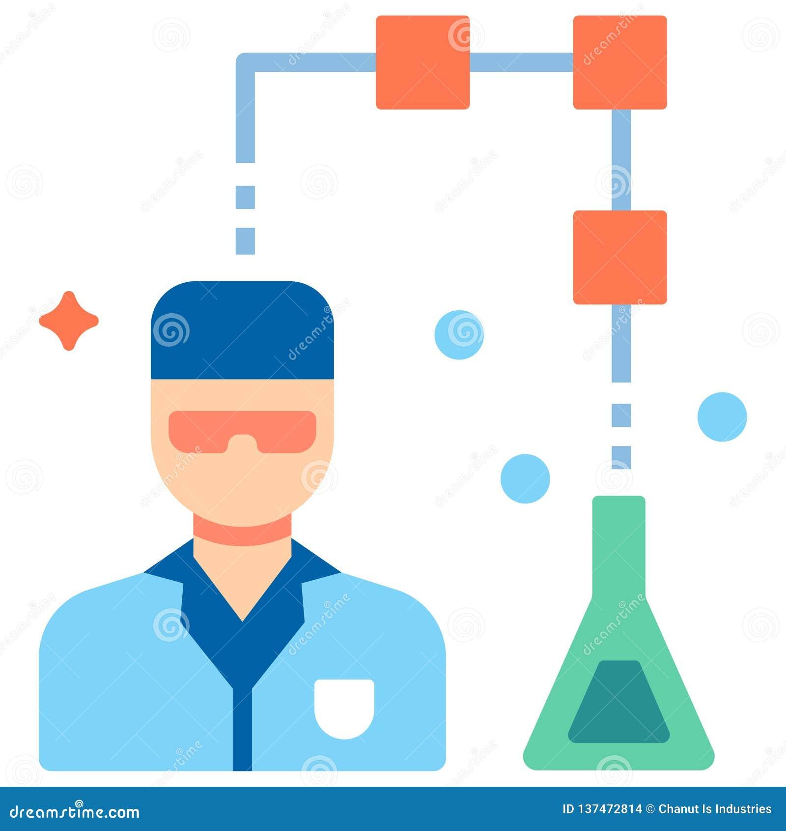 Illustration plate de scientifique de données