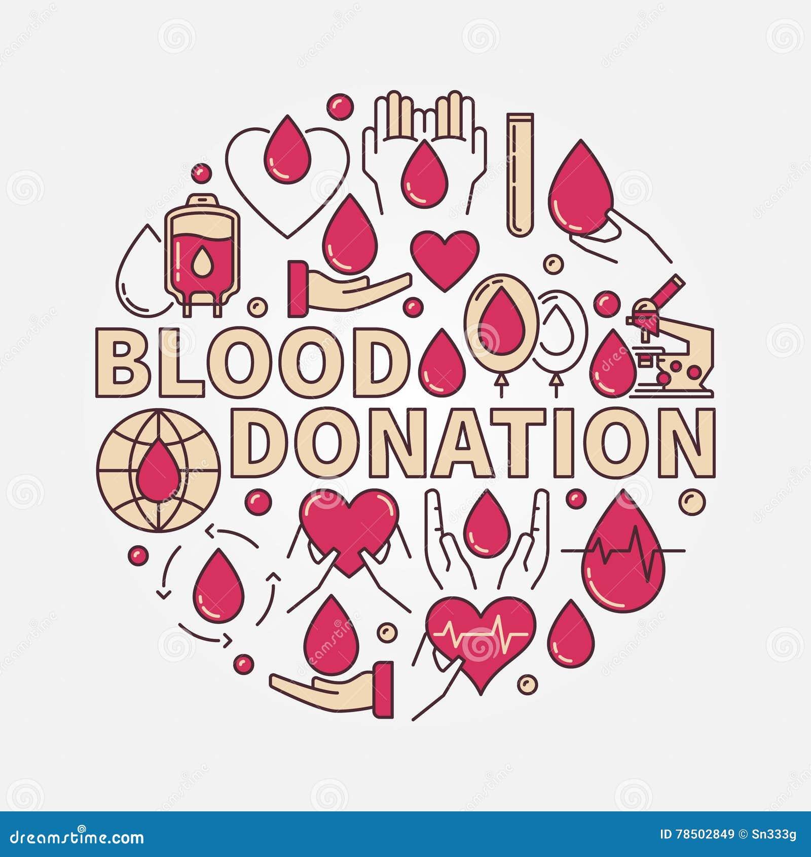 Illustration plate rouge de don du sang