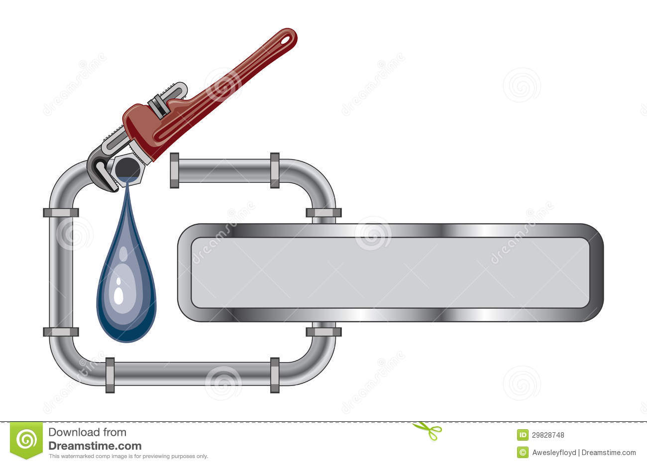 Plumbing Design With Banner Royalty Free Stock Photos Image