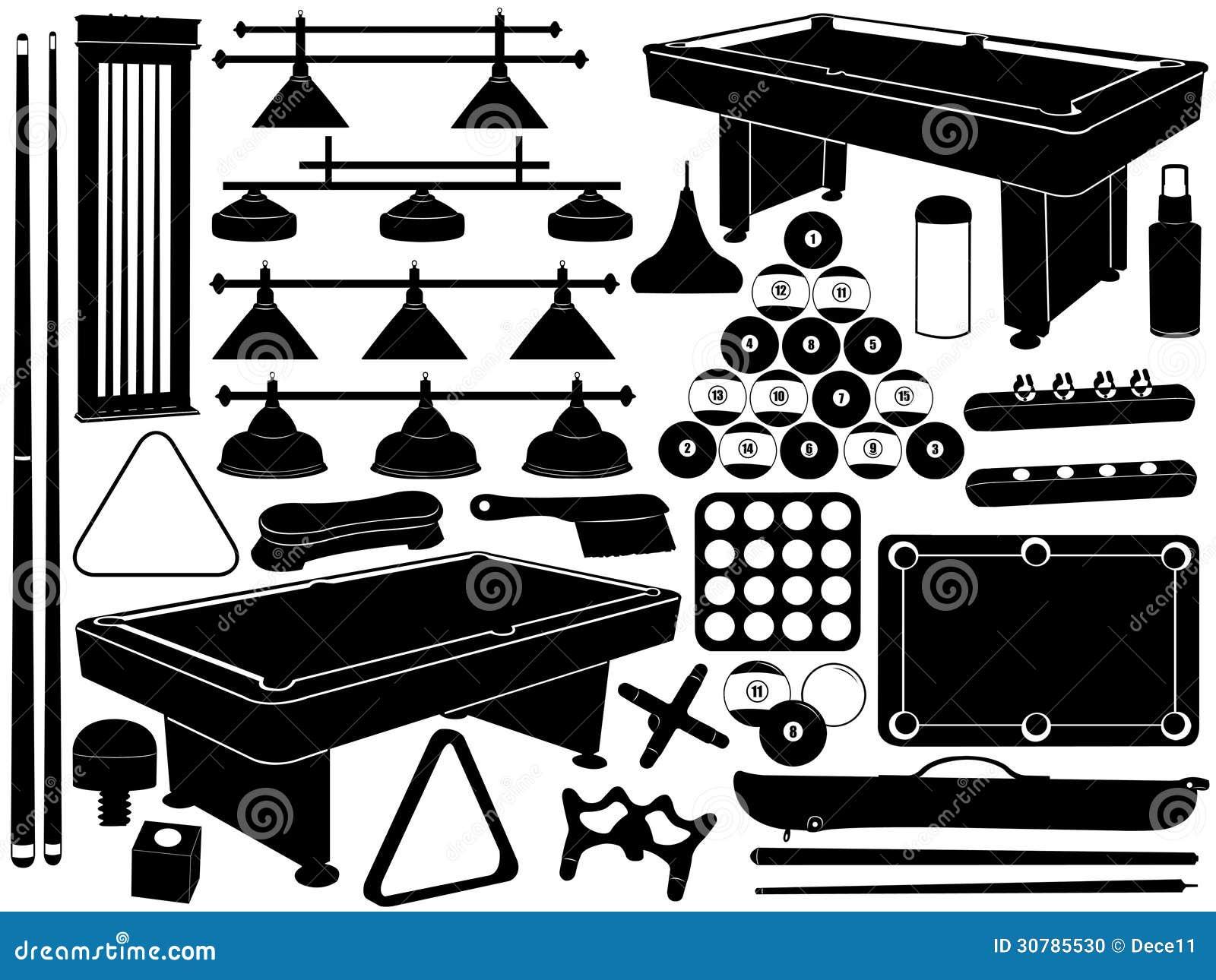 Illustration Of Pool Equipment