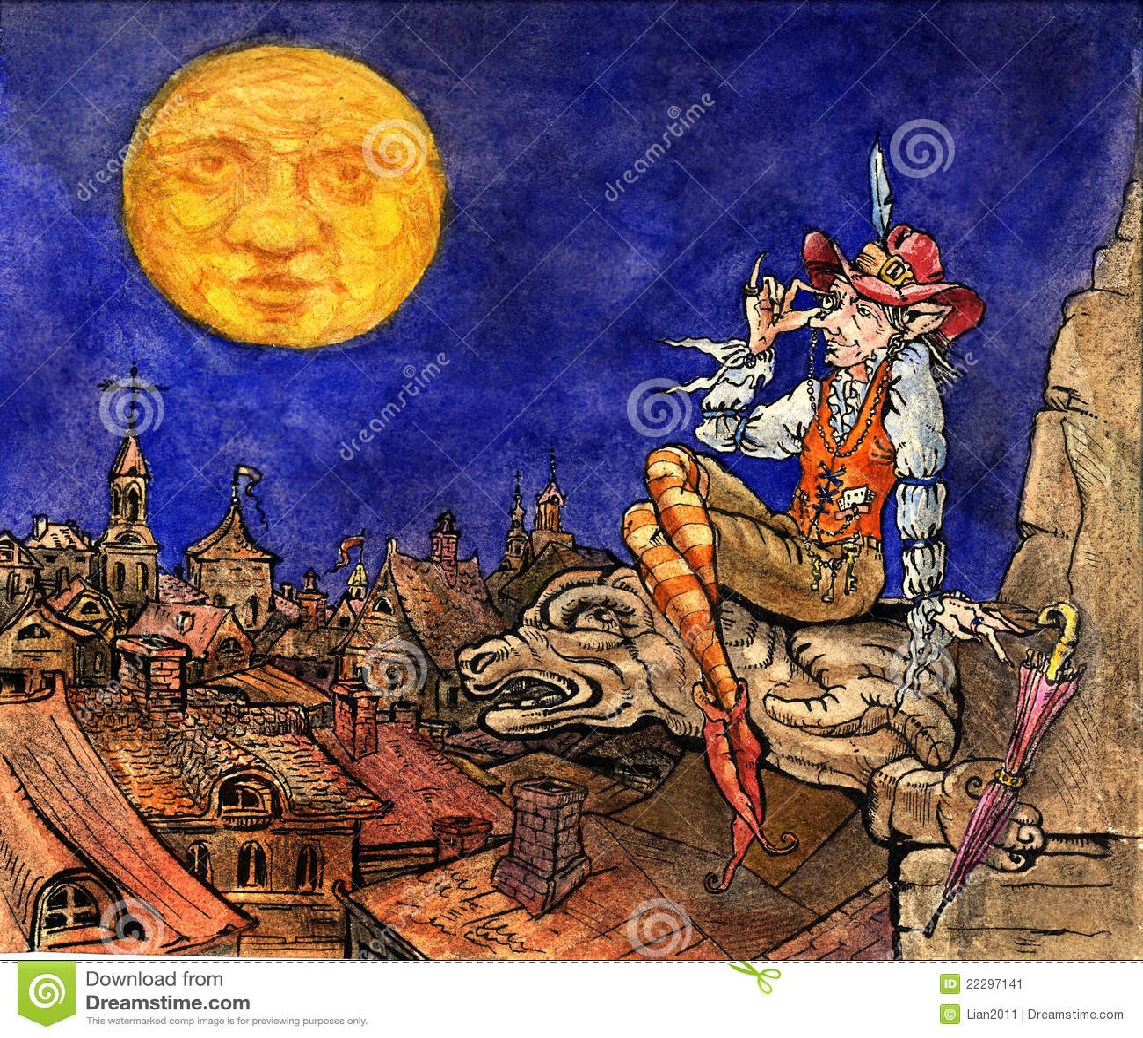 Illustration Conte De Fée illustration pour l'histoire de conte de fées illustration stock