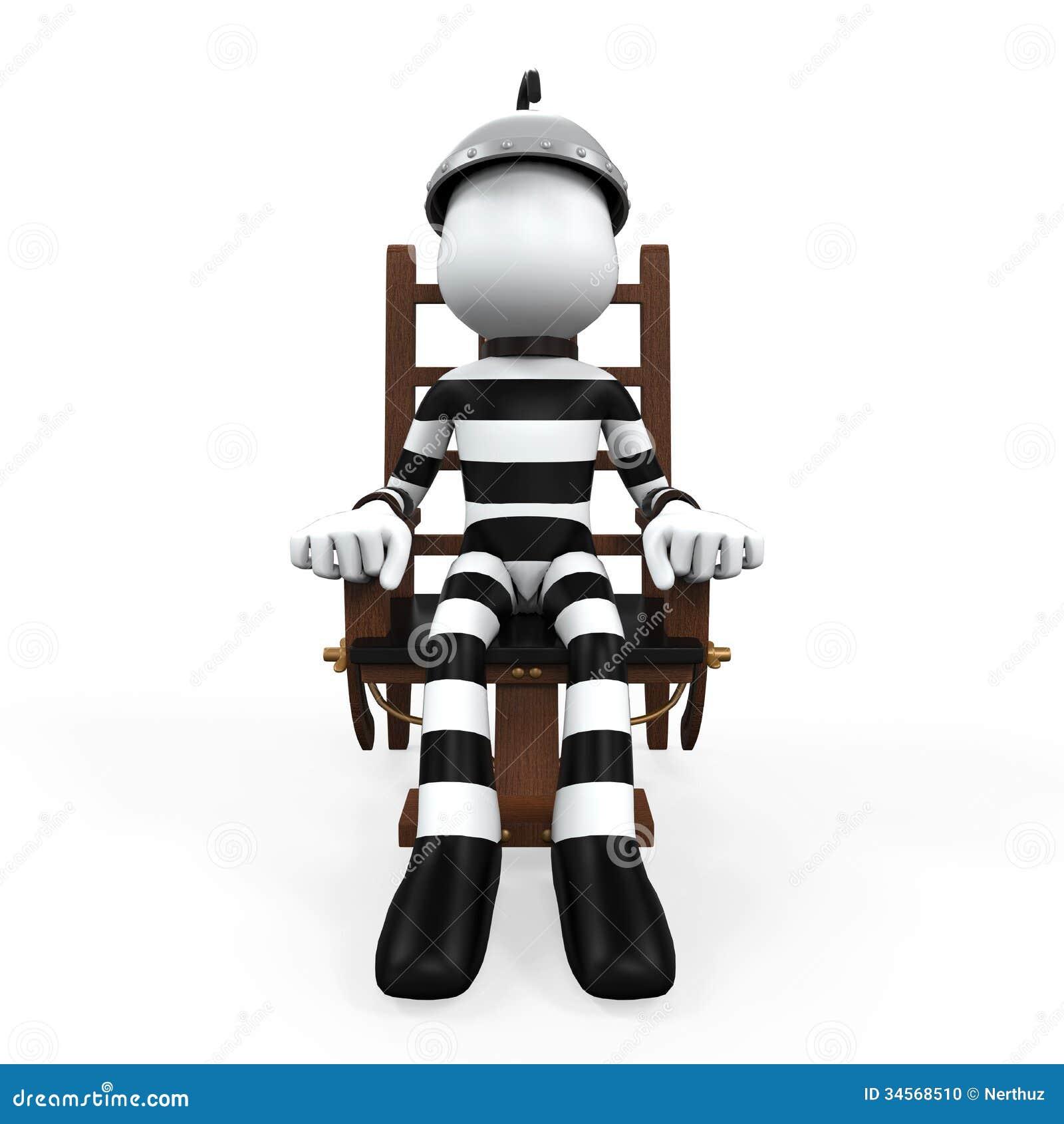 Electric chair cartoon
