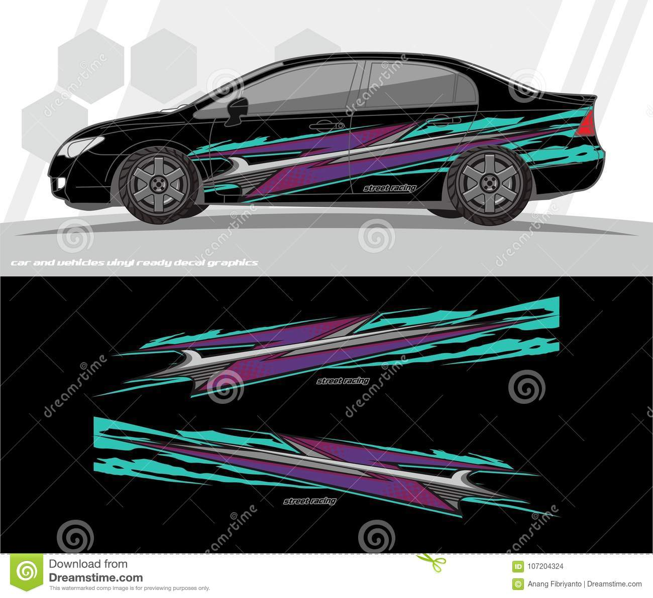 Car And Vehicles Wrap Decal Graphics Kit Designs Ready To Print And