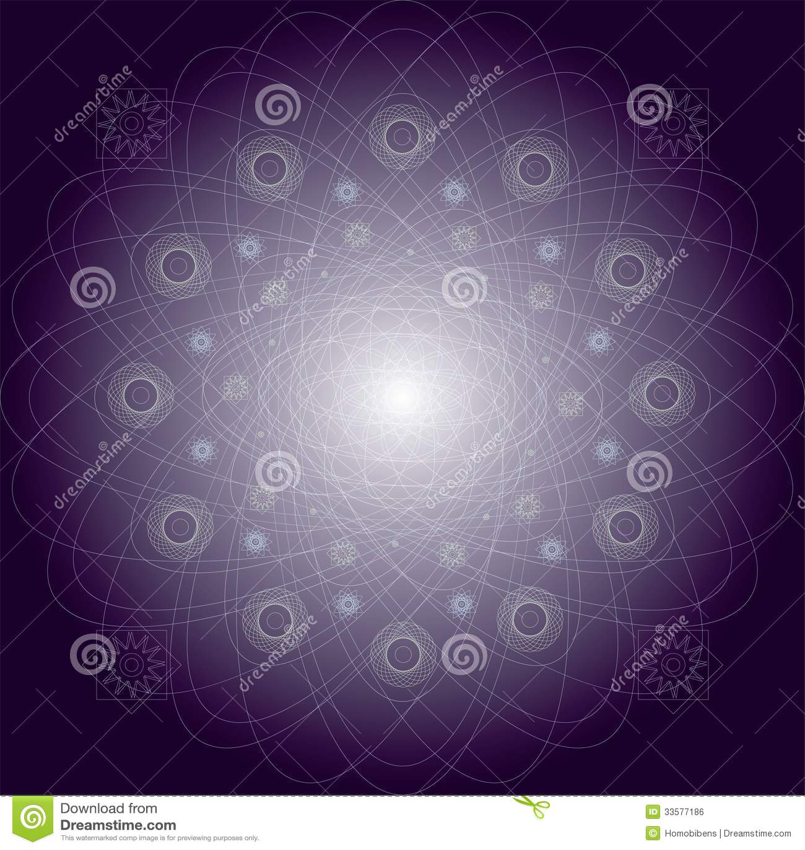 Illustration purple mystical pattern