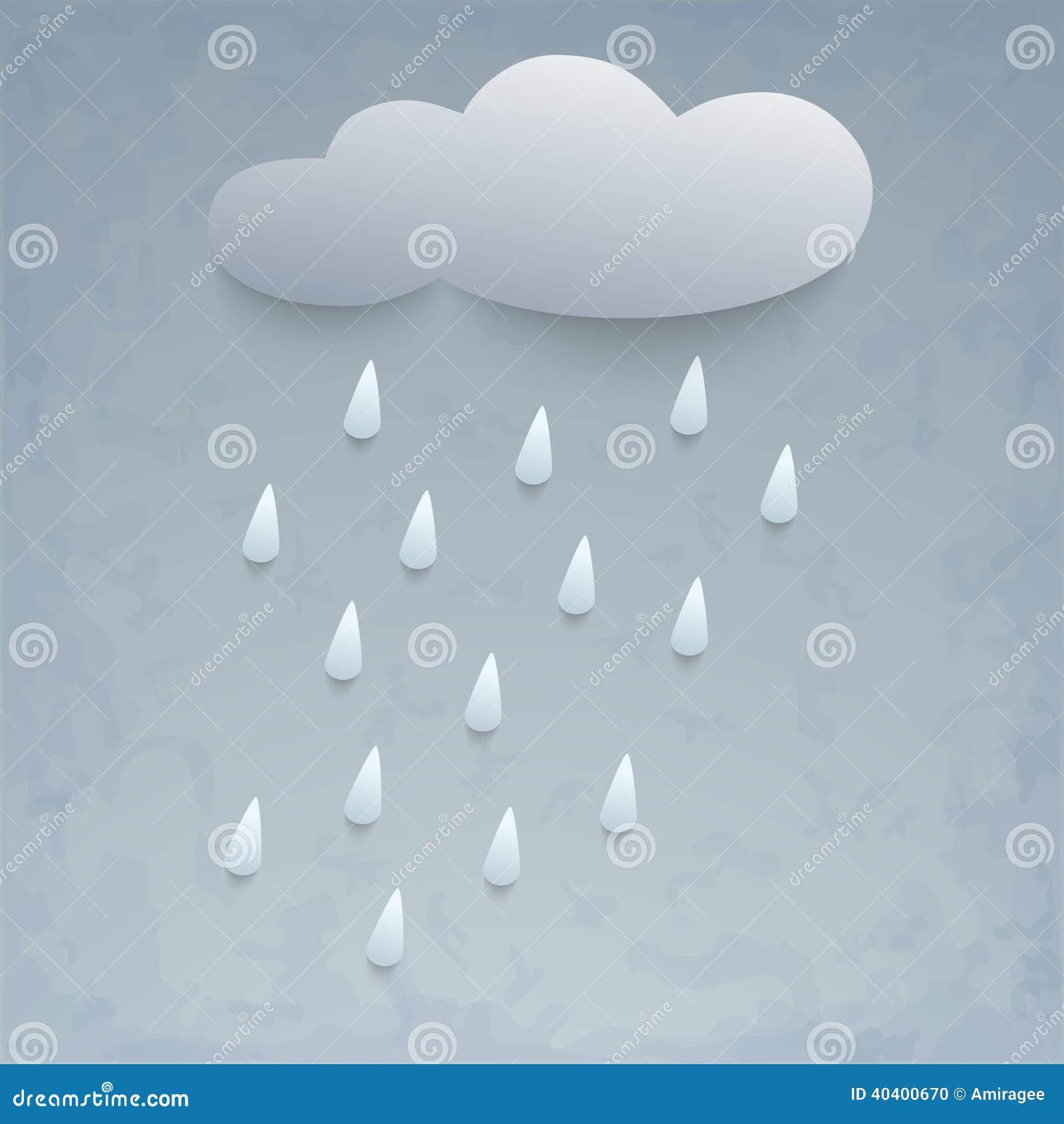 Illustration of rain and cloud.