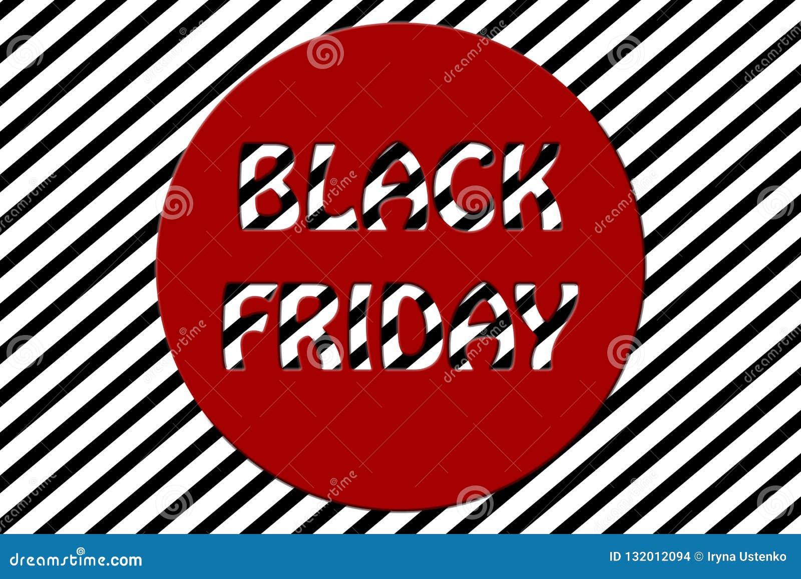 Illustration rayée noire de fond de promotion des ventes de vendredi