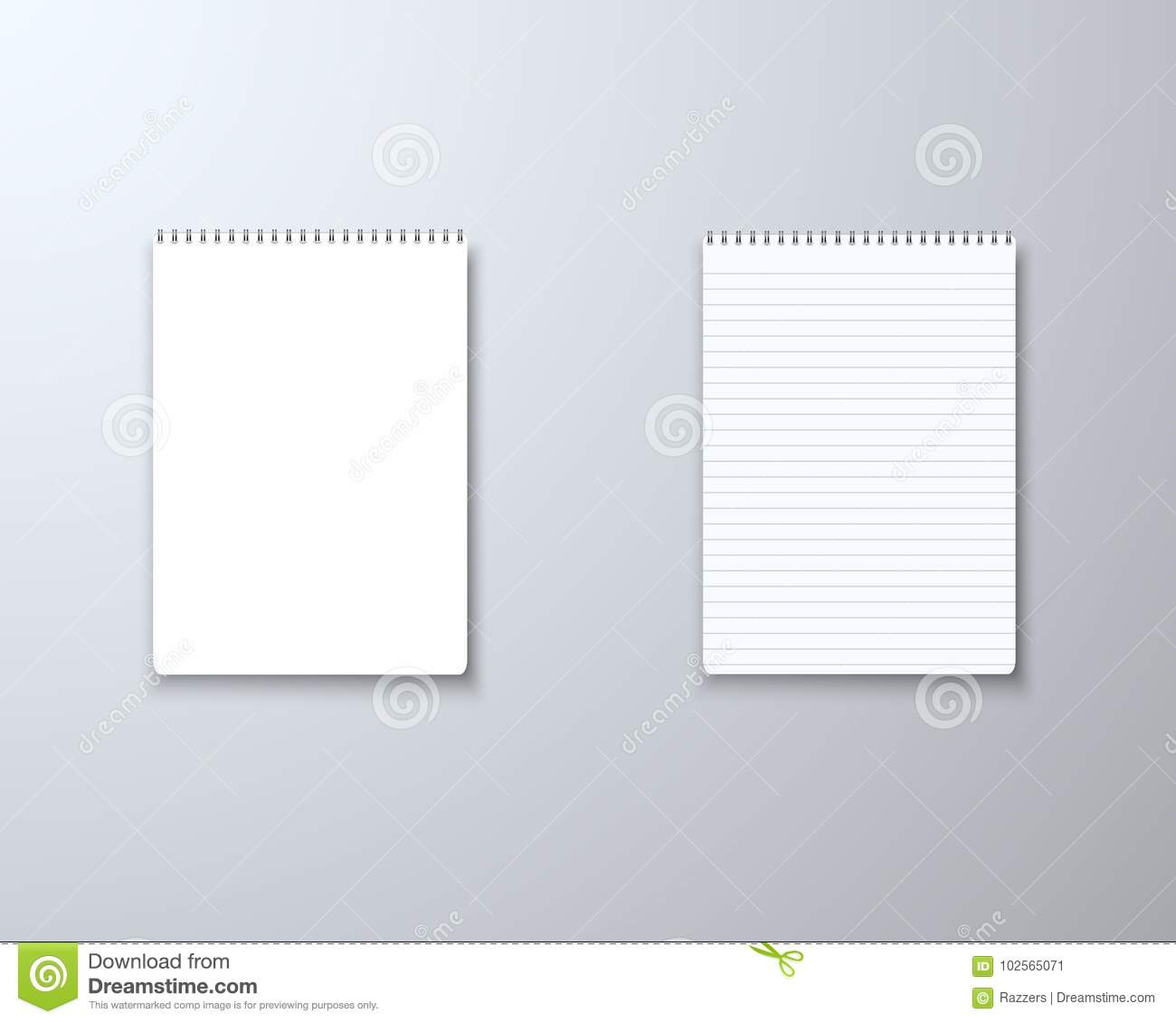 realistic vector blank notepad textbook icon vector notepad