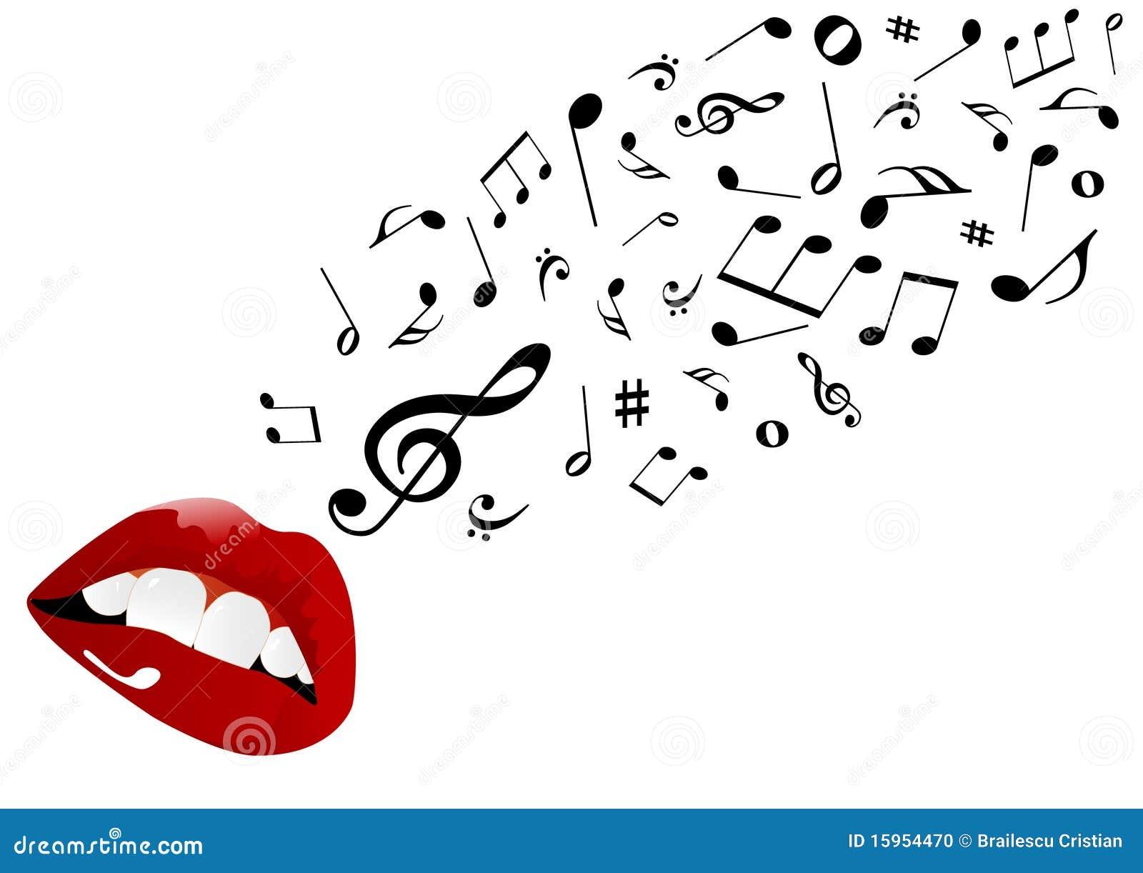 Illustration Of Red Lips Singing Stock Photo - Image: 15954470