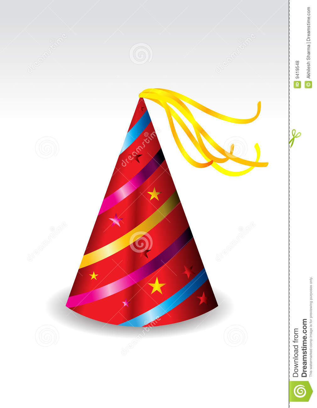 465a2a32 Illustration Of A Red Party Hat Stock Vector - Illustration of happy ...