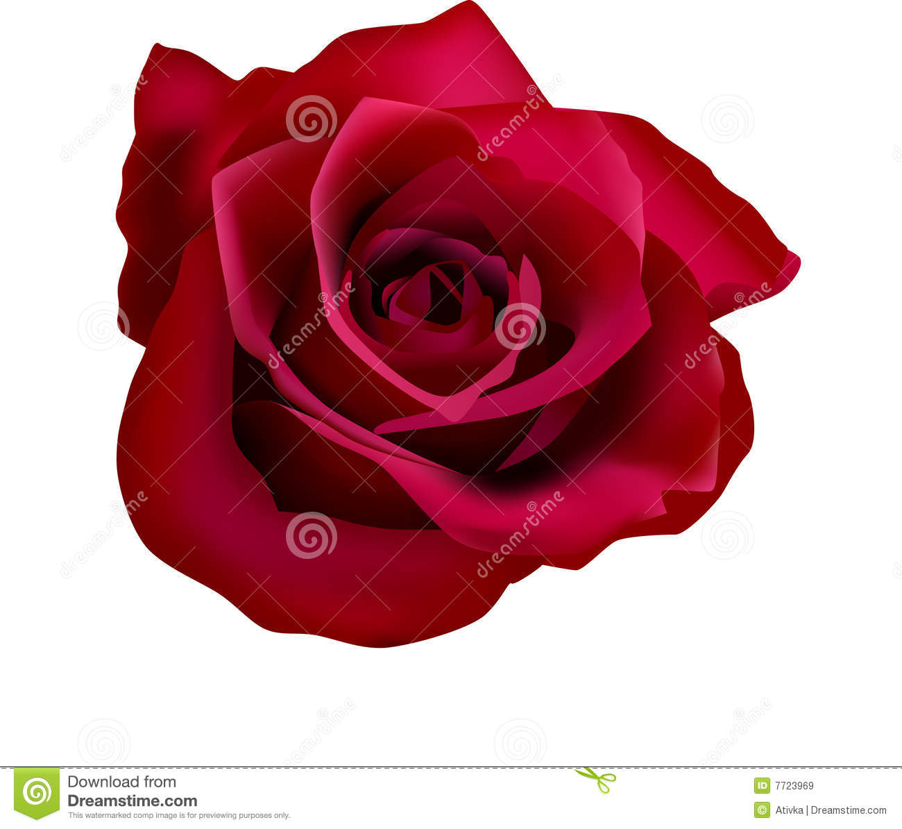 Illustration Of Red Roses With Mesh Stock Vector