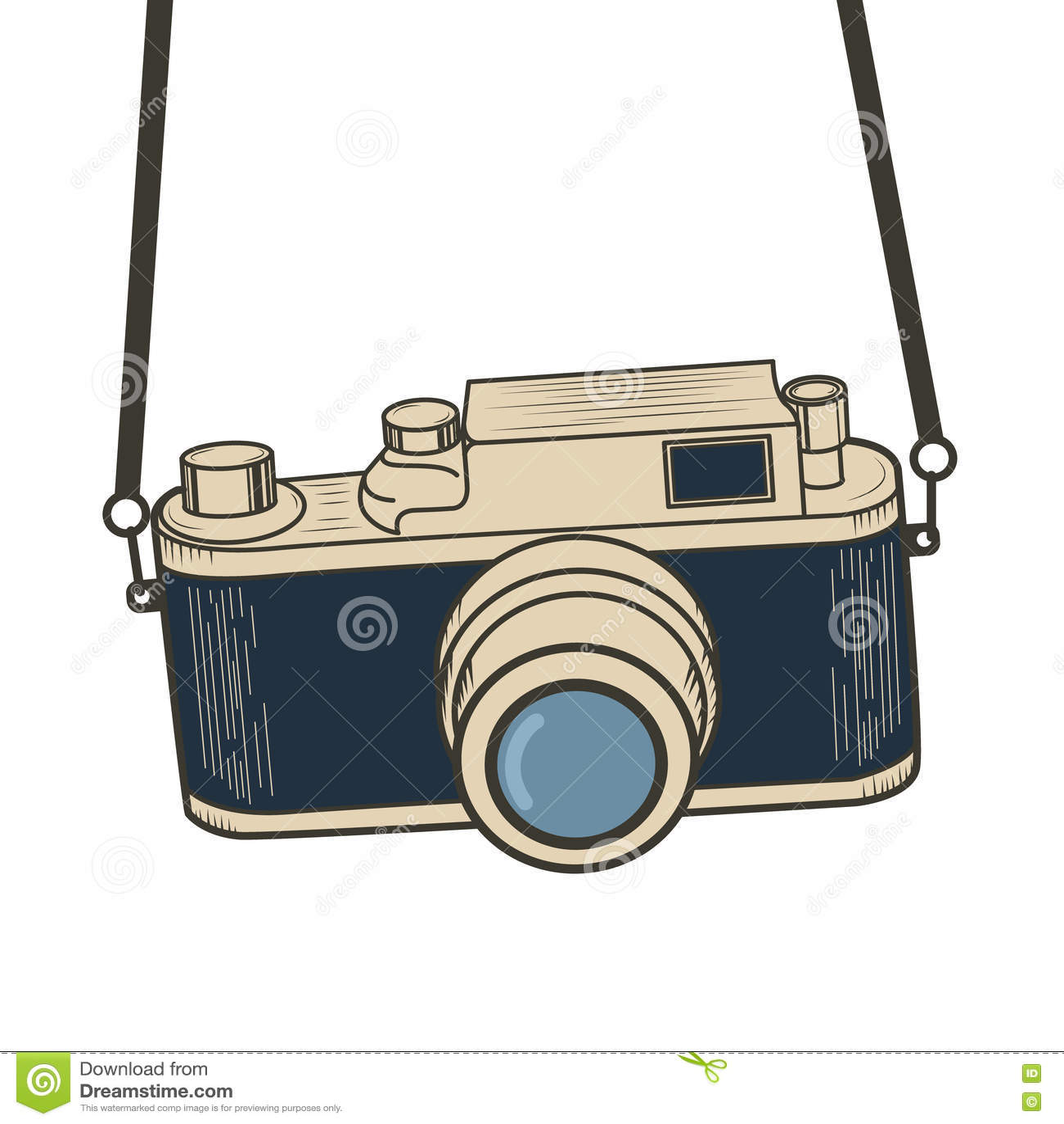 Illustration Of Retro Camera
