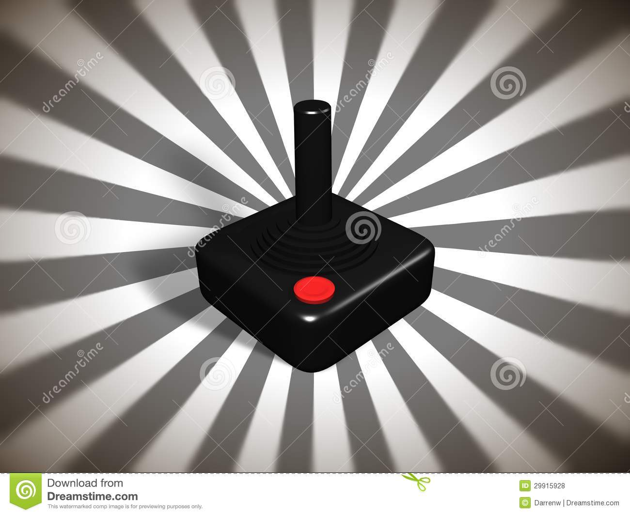 Retro games controller stock illustration  Illustration of