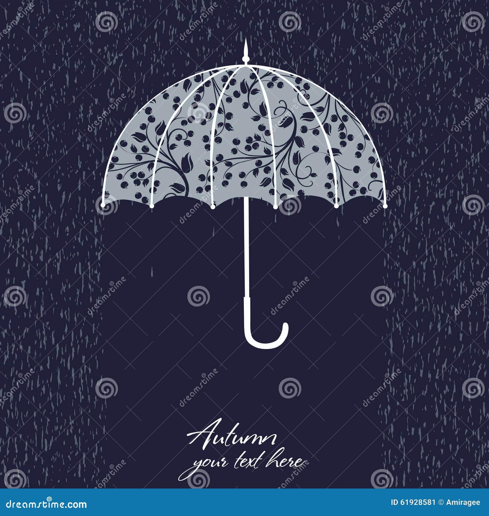 Illustration of retro umbrella