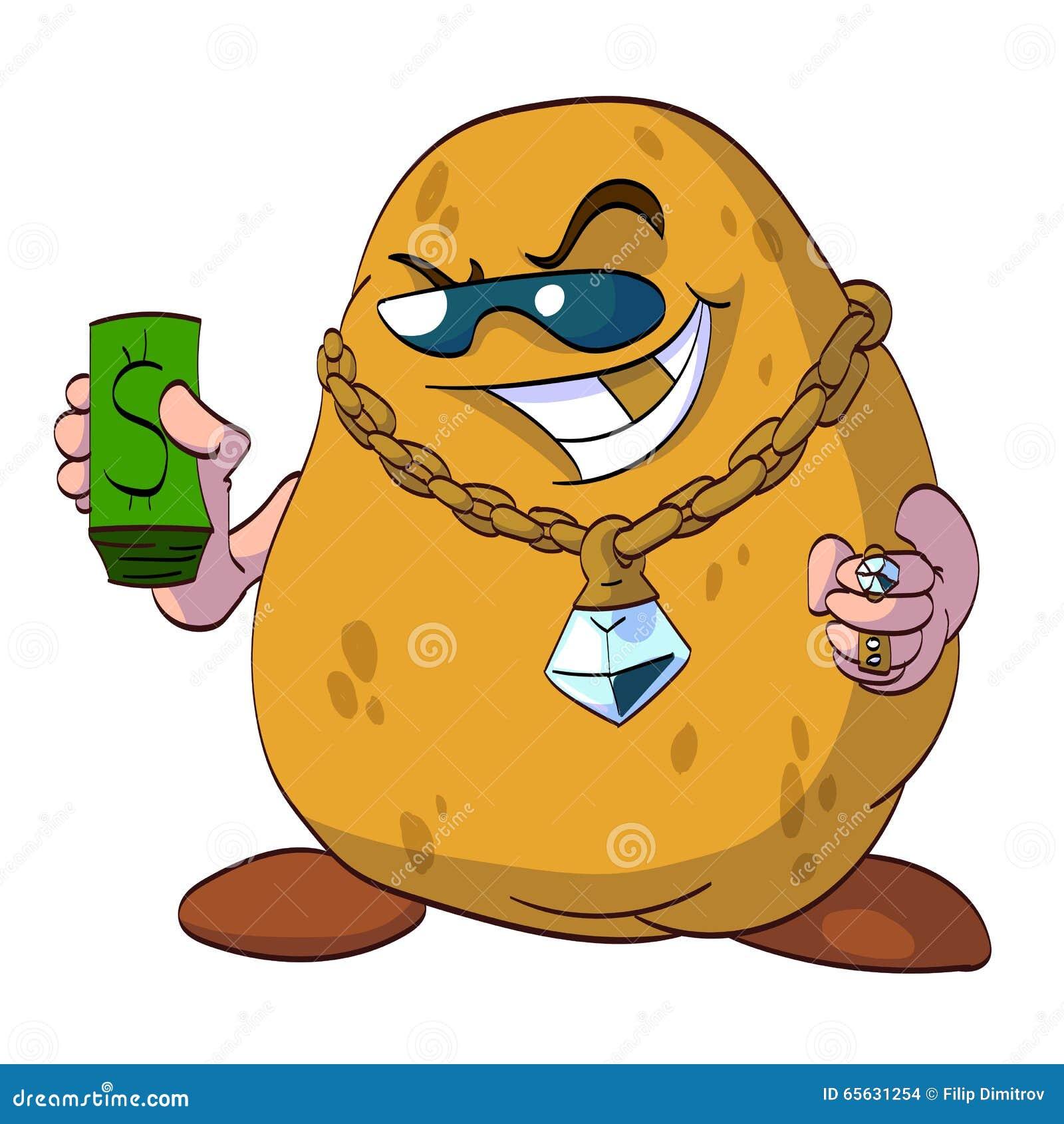 Illustration riche de pomme de terre