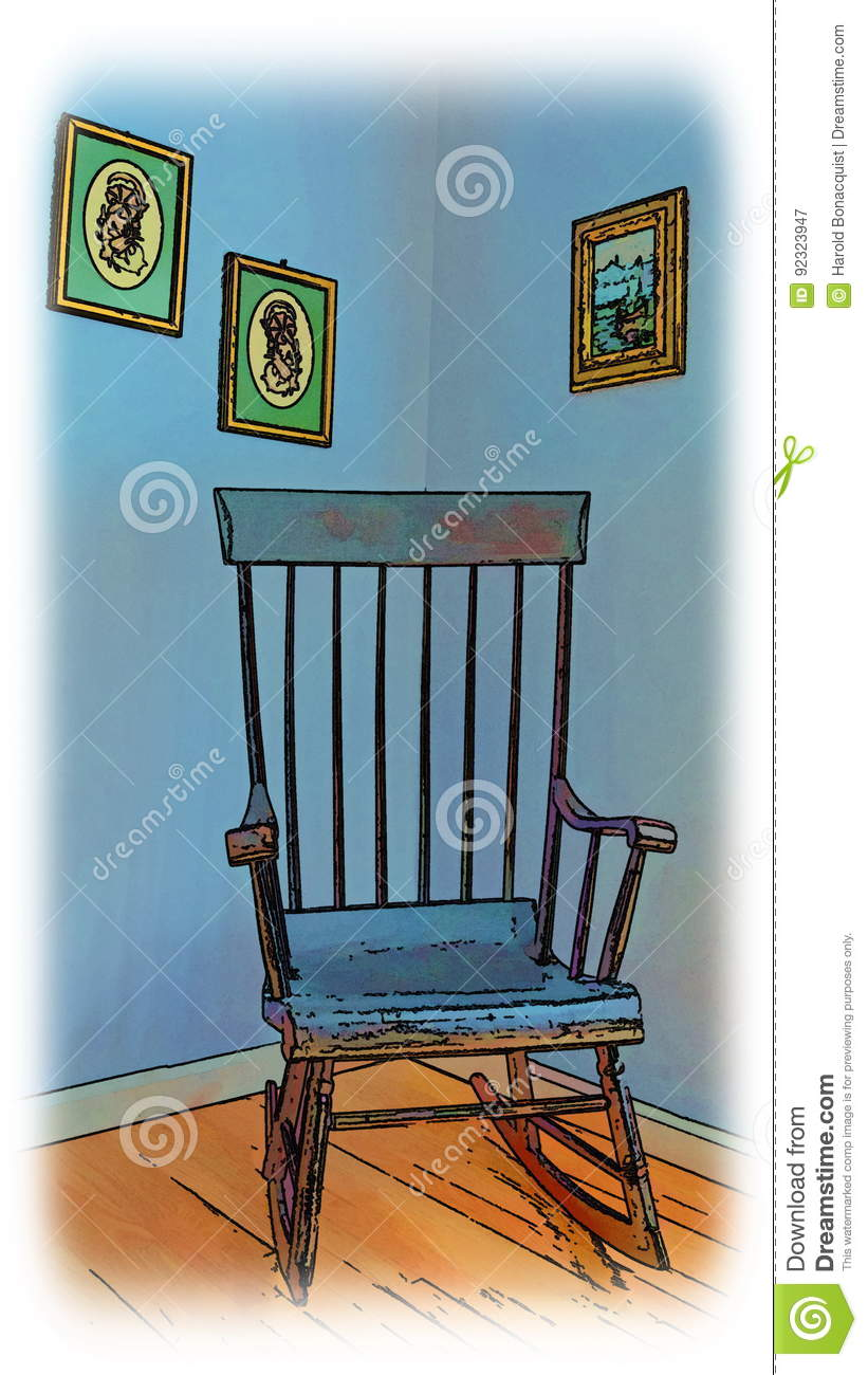 Magnificent Illustration Of A Rocking Chair Stock Image Image Of Download Free Architecture Designs Rallybritishbridgeorg