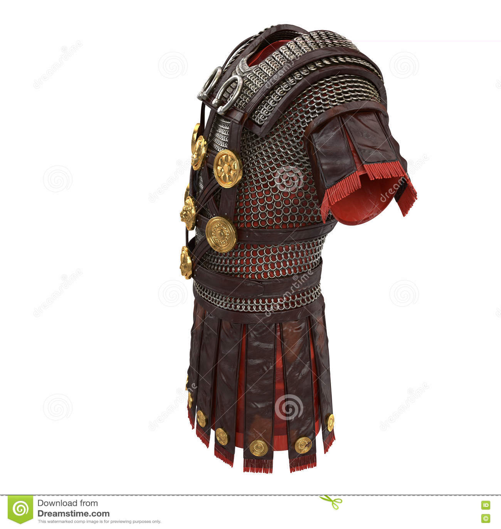 Illustration romaine de l armure 3d