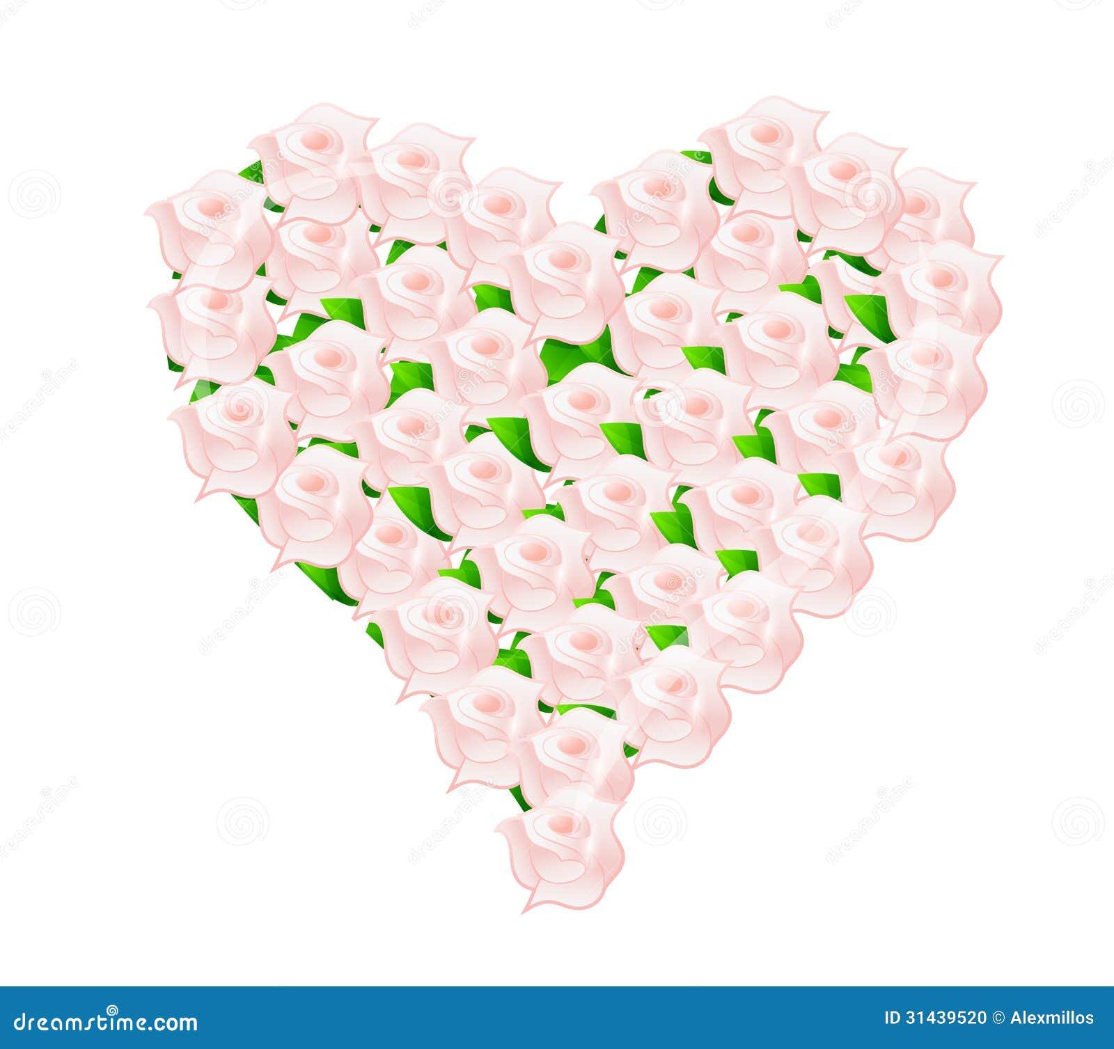 Illustration Rose De Bouquet De Mariage De Fleur De Coeur