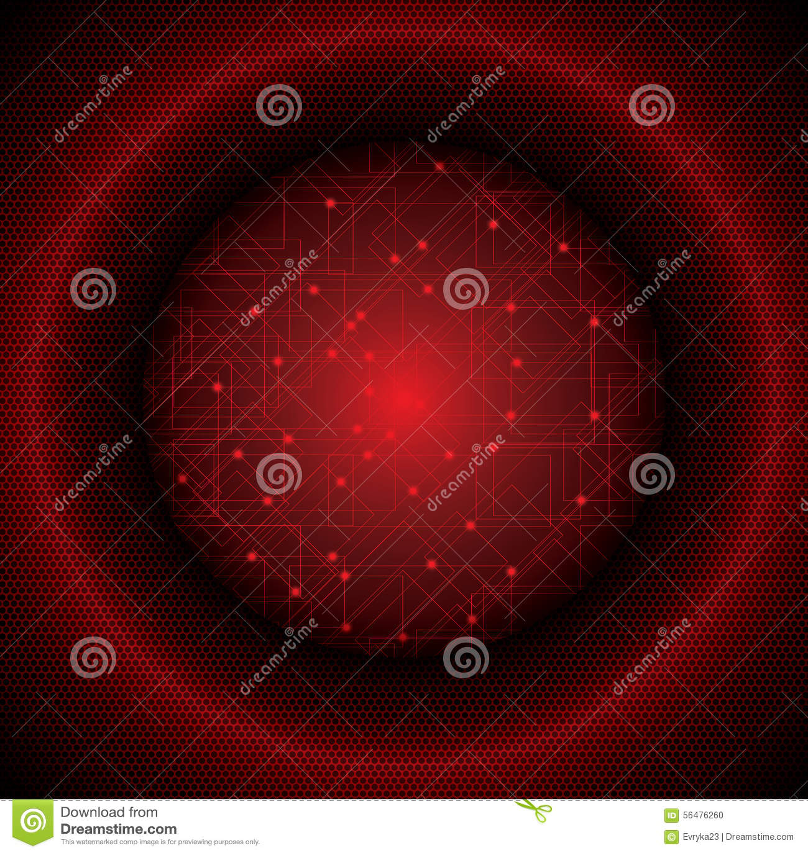 Illustration rouge futuriste abstraite de fond