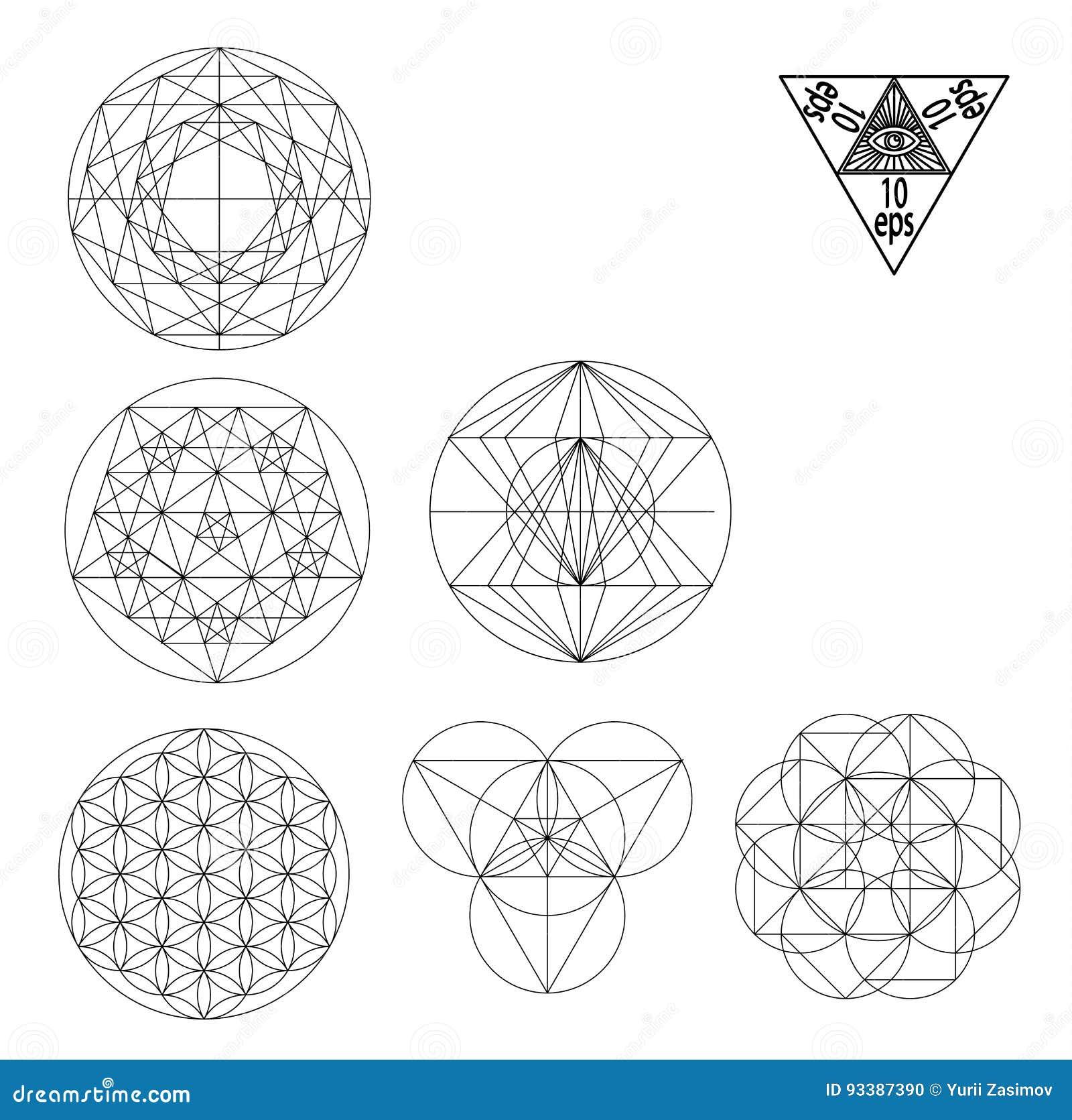 Illustration Sacree De Vecteur De Symboles Et De Signes De La