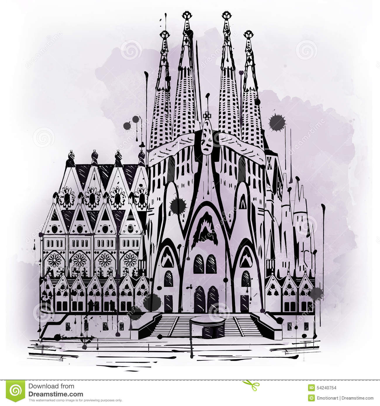 illustration of sagrada familia in barcelona stock holy family clip art for the holy family holy family clipart