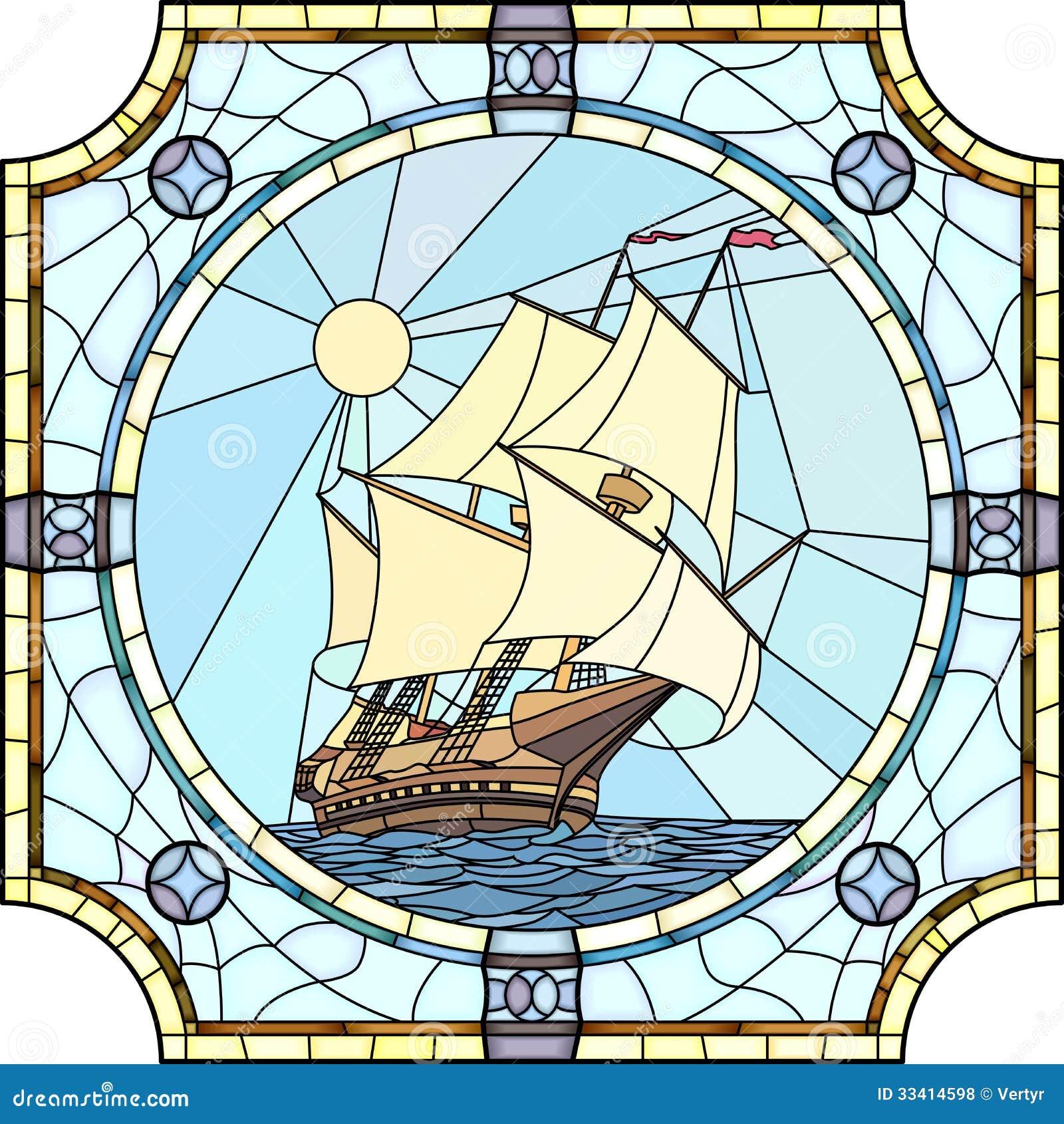 Illustration Sailing Ships The 17th Century Stock