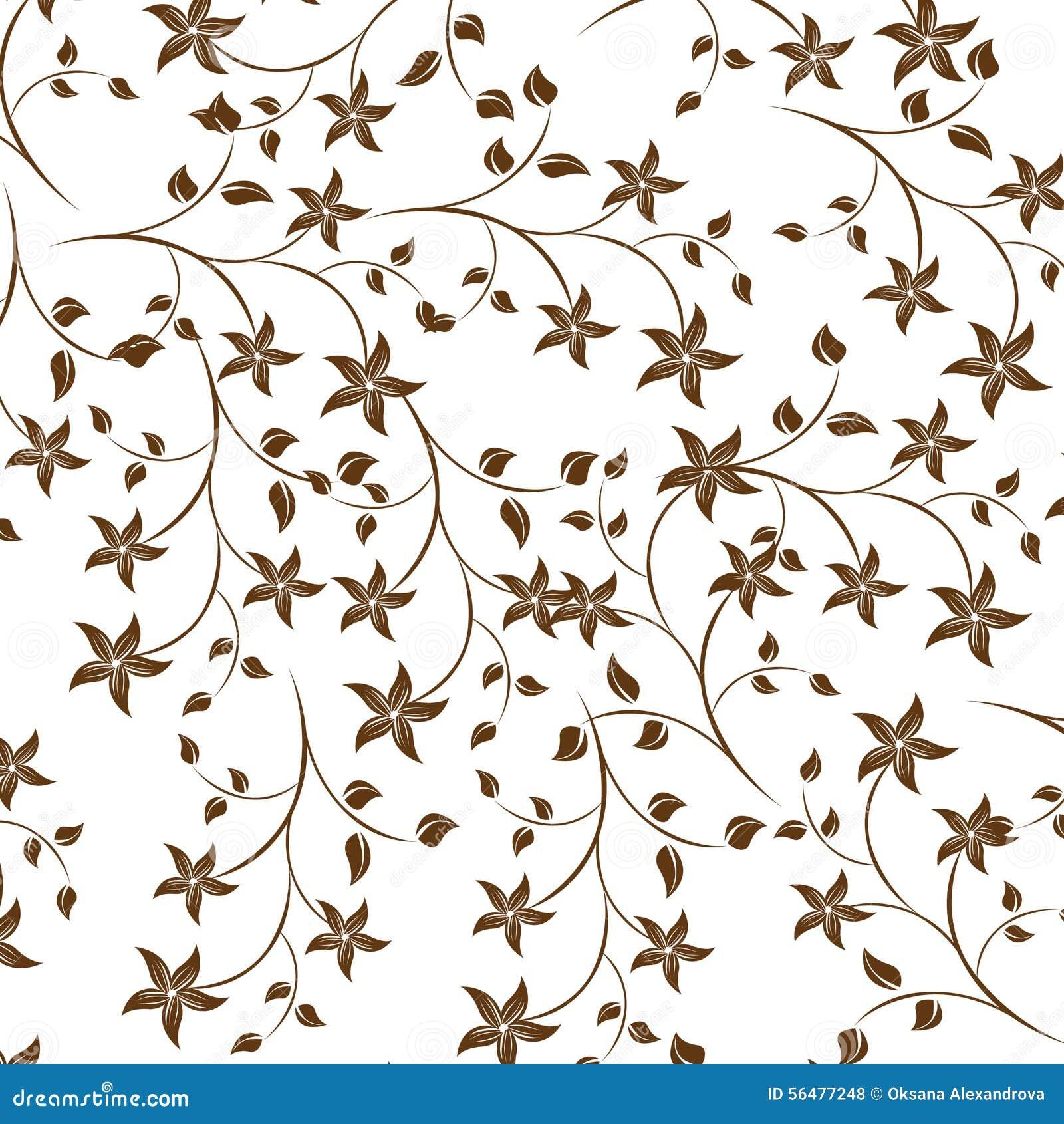 Illustration sans couture de fleur de ressort