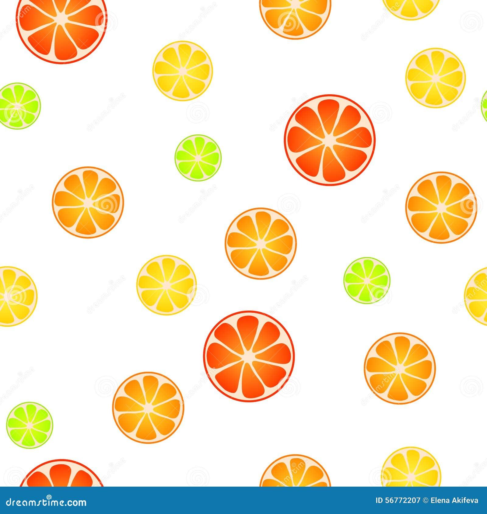 Illustration sans couture verte rouge de fond de modèle de fruit de citron de chaux de jaune orange abstrait de pamplemousse