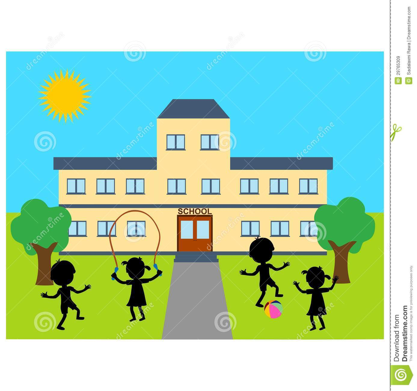 school building stock vector illustration of path outside 29765309 rh dreamstime com school building clipart images school building clip art free