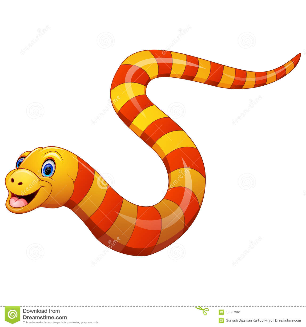 Illustration Of Sea Snake Stock Vector - Image: 68367361