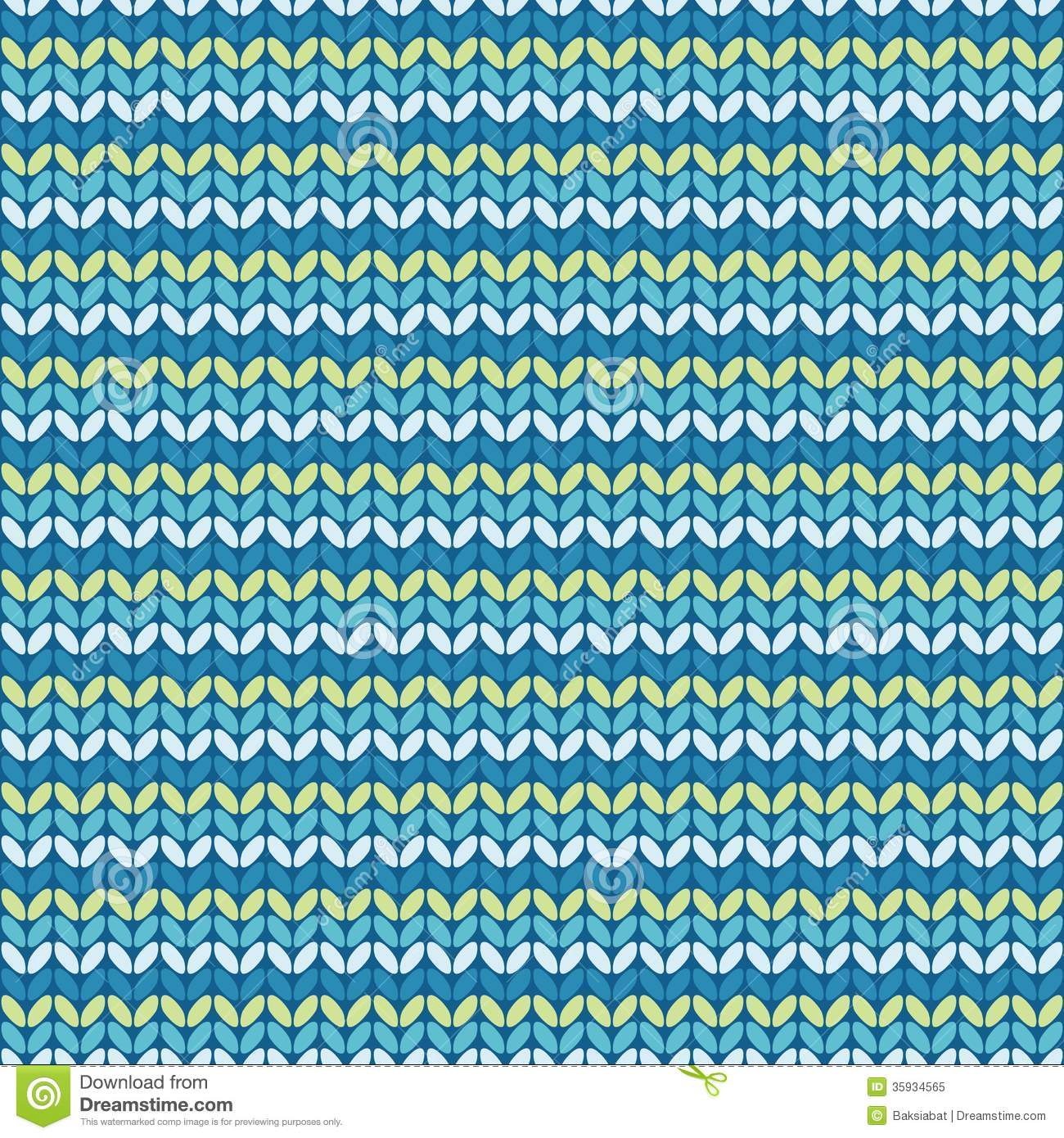 illustration seamless knitted pattern  stock vector
