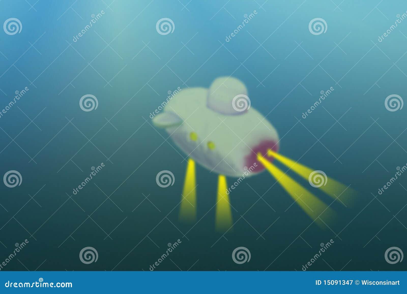 Illustration secondaire sous-marine d exploration de mer profonde