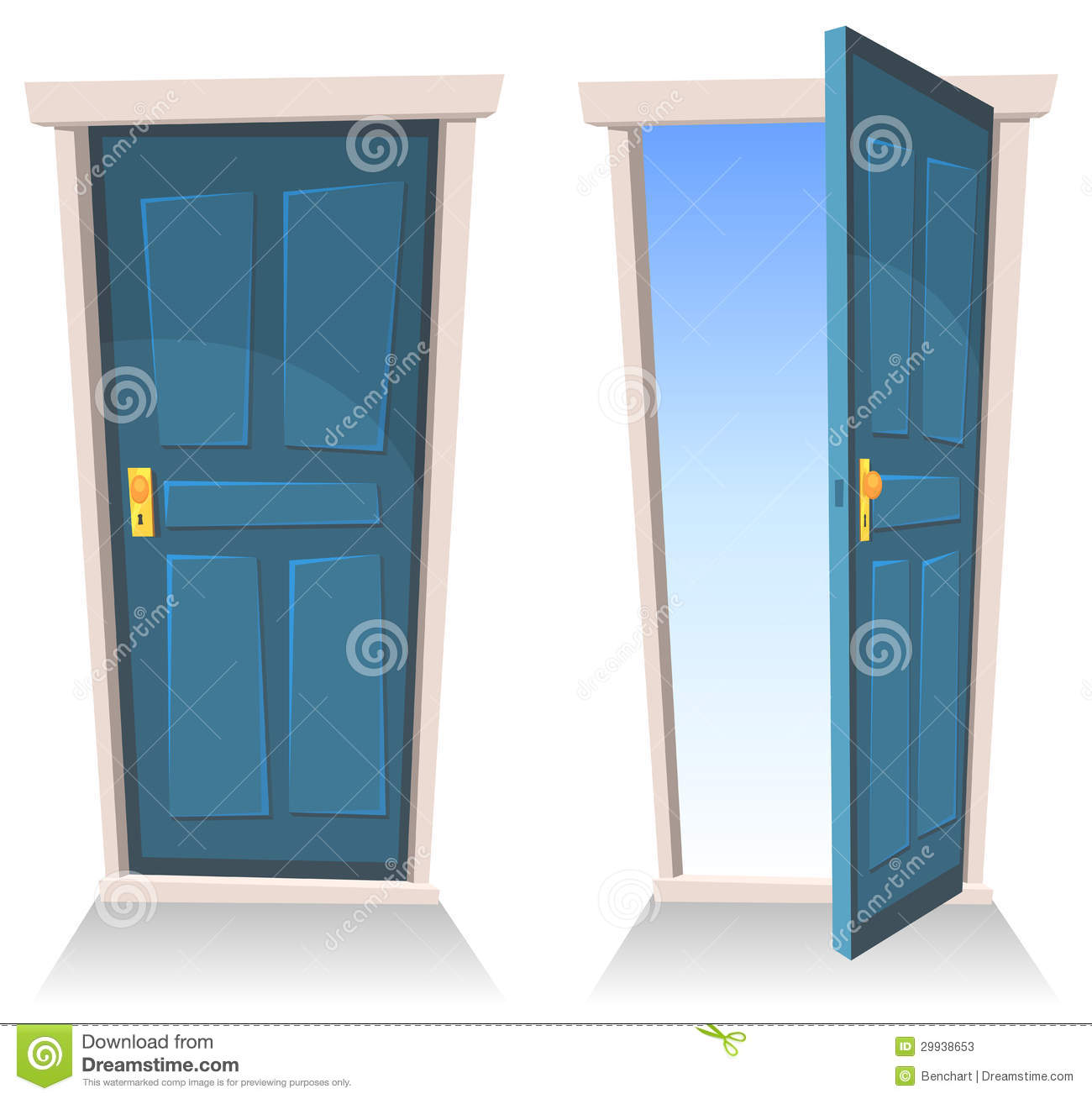 Doors, Closed And Open Stock Photos - Image: 29938653