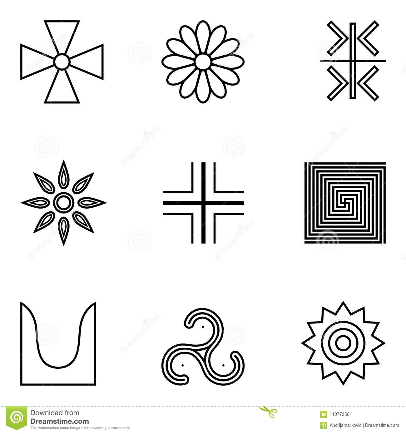 Ancient Symbol Of God The Sun Stock Vector Illustration Of