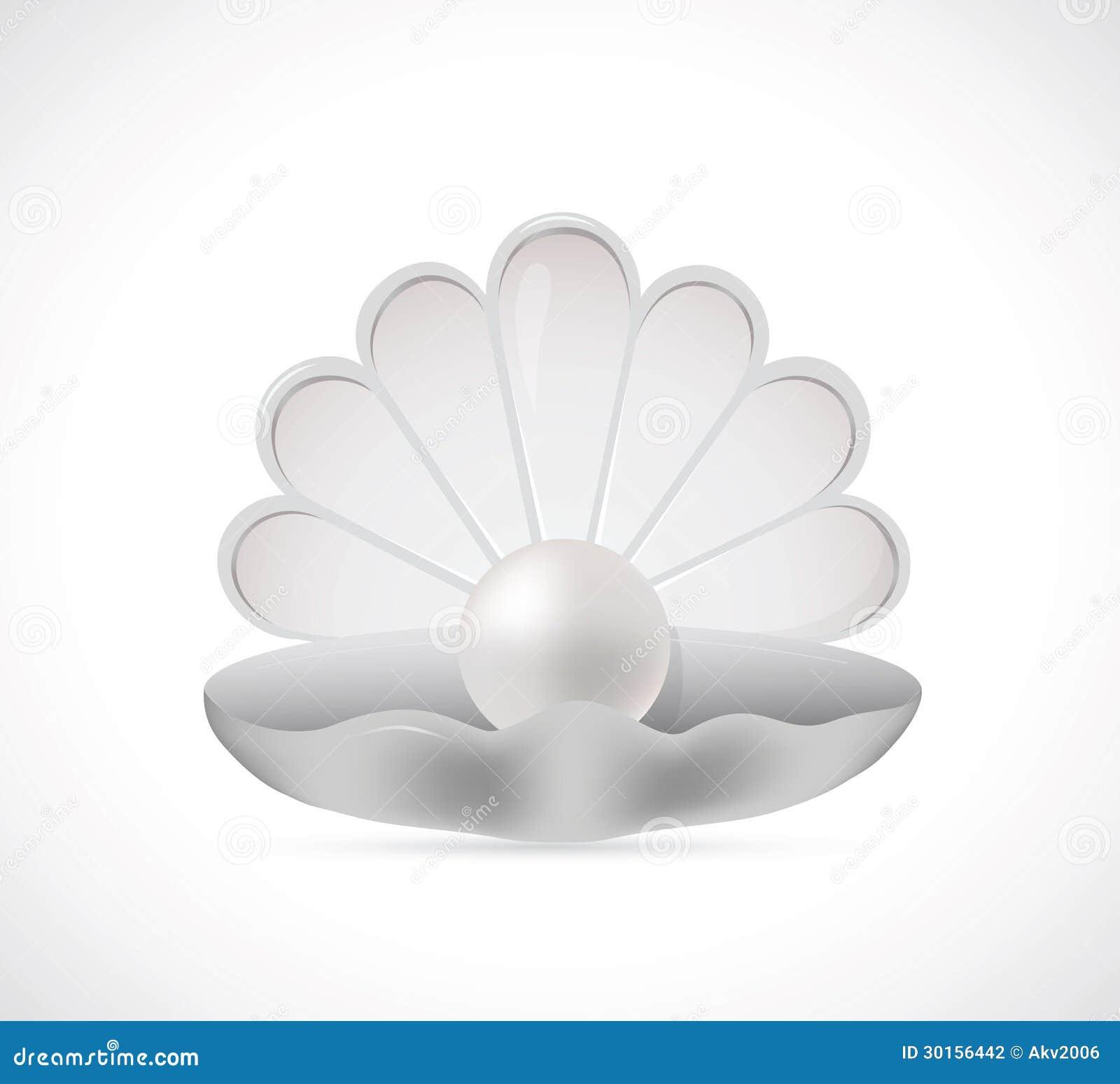 Shell Pearl Cartoon Stock Photography - Image: 30156442