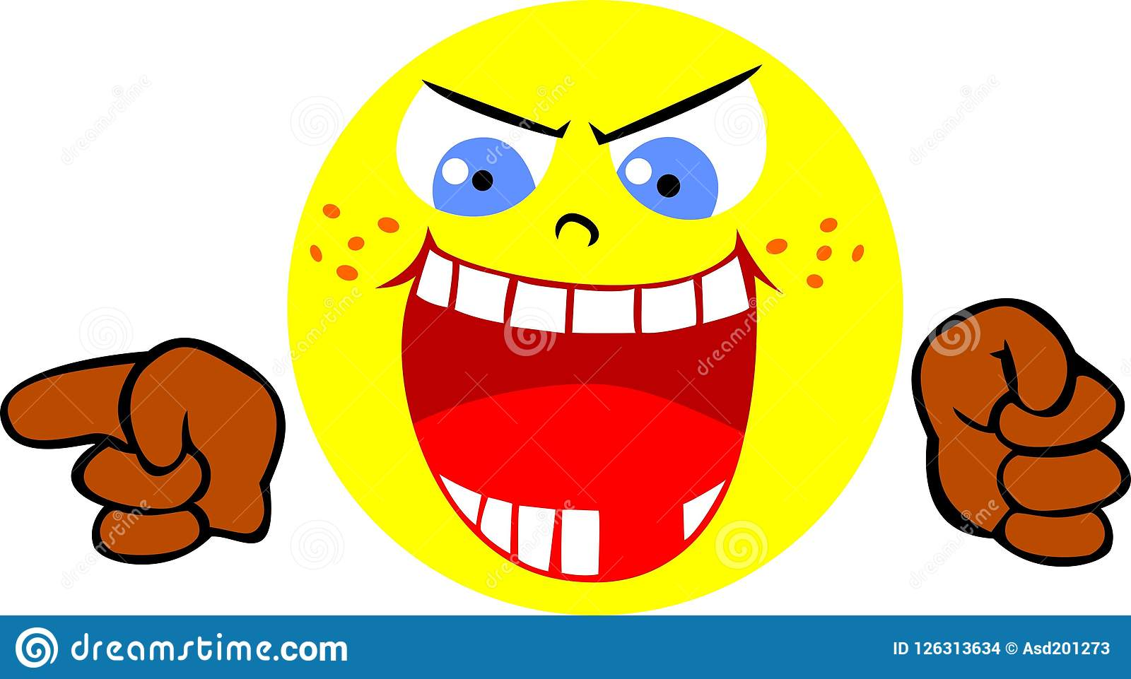 Funny Laughing Smiley Face Stock Illustrations 1893 Funny