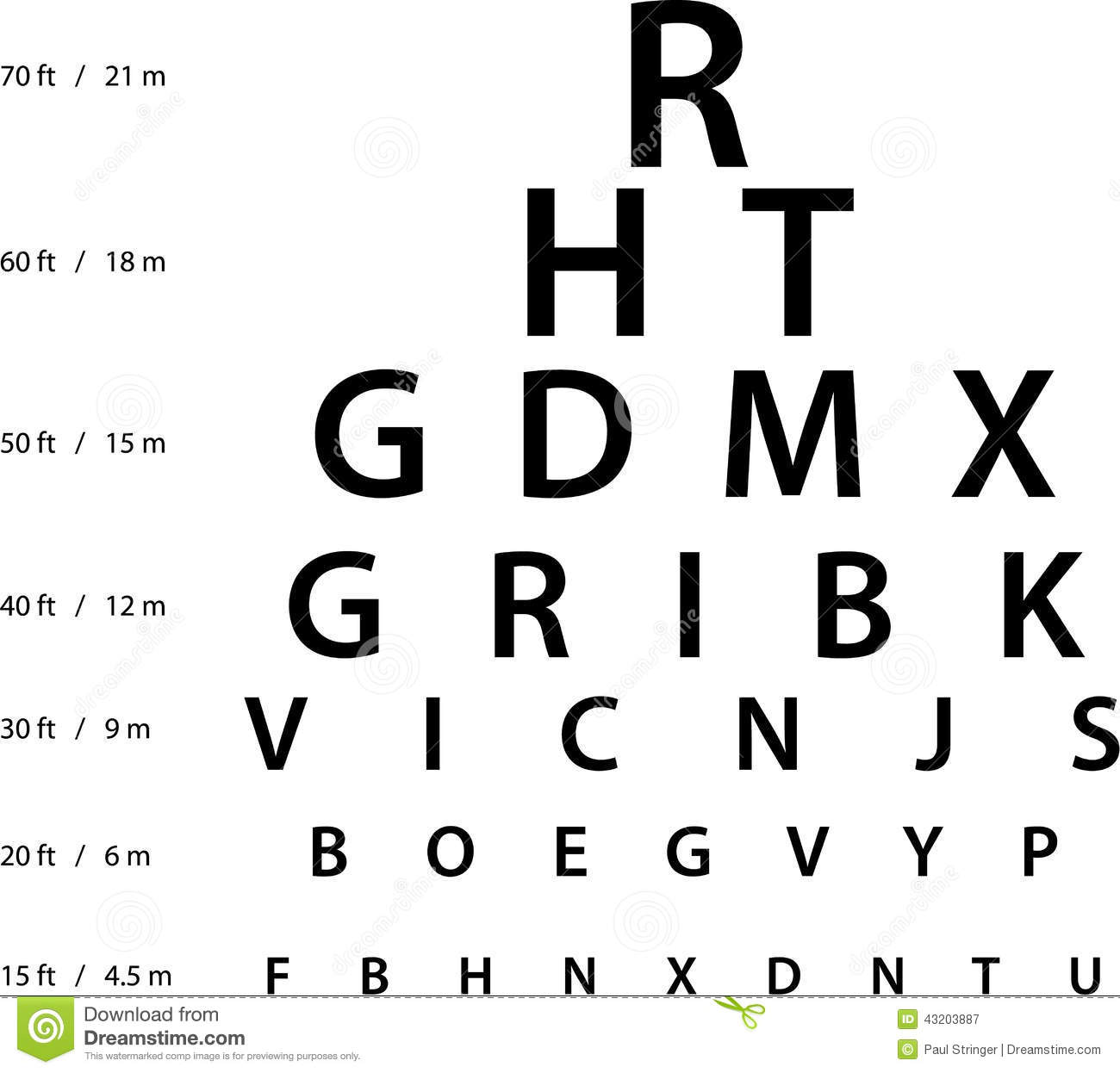 Illustration Of Sign For Eye Test Use By Doctors Stock