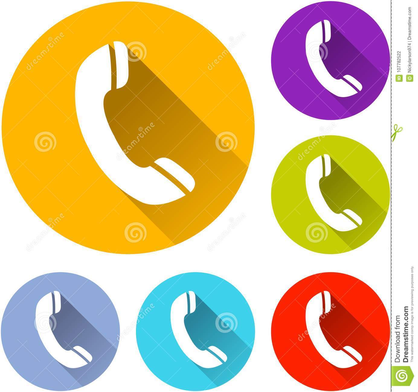 Six phone icons