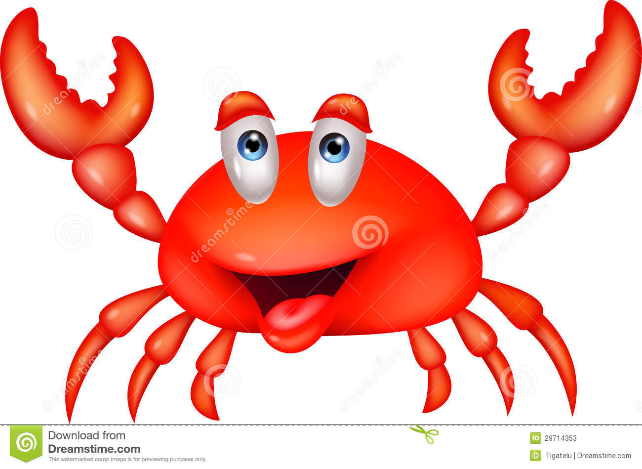 Smiling Crab Cartoon Stock Photos Image 29714353